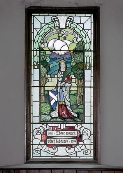 One of the First World War stained glass windows.
