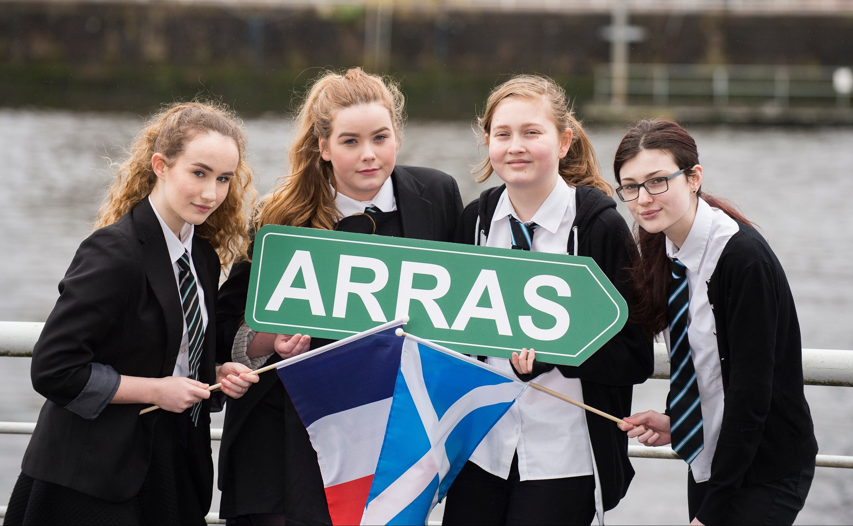 Left to right,  Amy Collins, Elizabeth Green, Eilidh Campbell, Emily Gough.