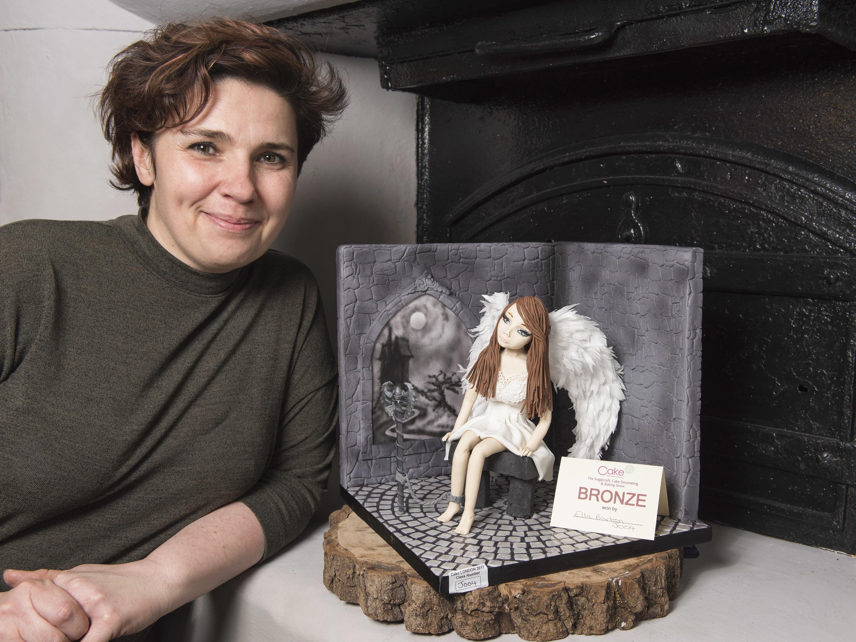 Ella Barton has won a bronze award at the UK's biggest cake designing competition.