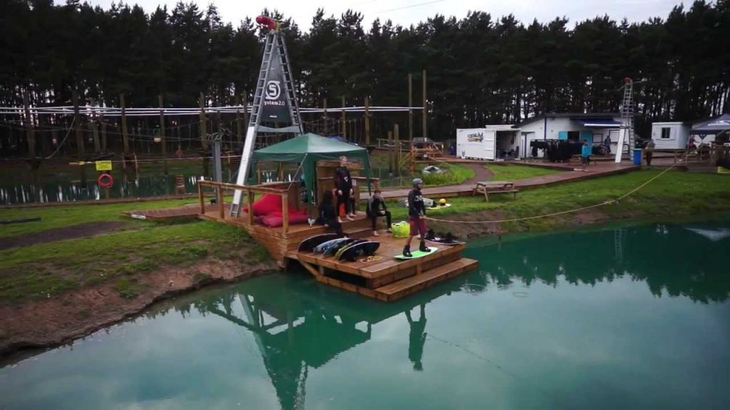 One of Foxlake's existing wakeboarding centres.