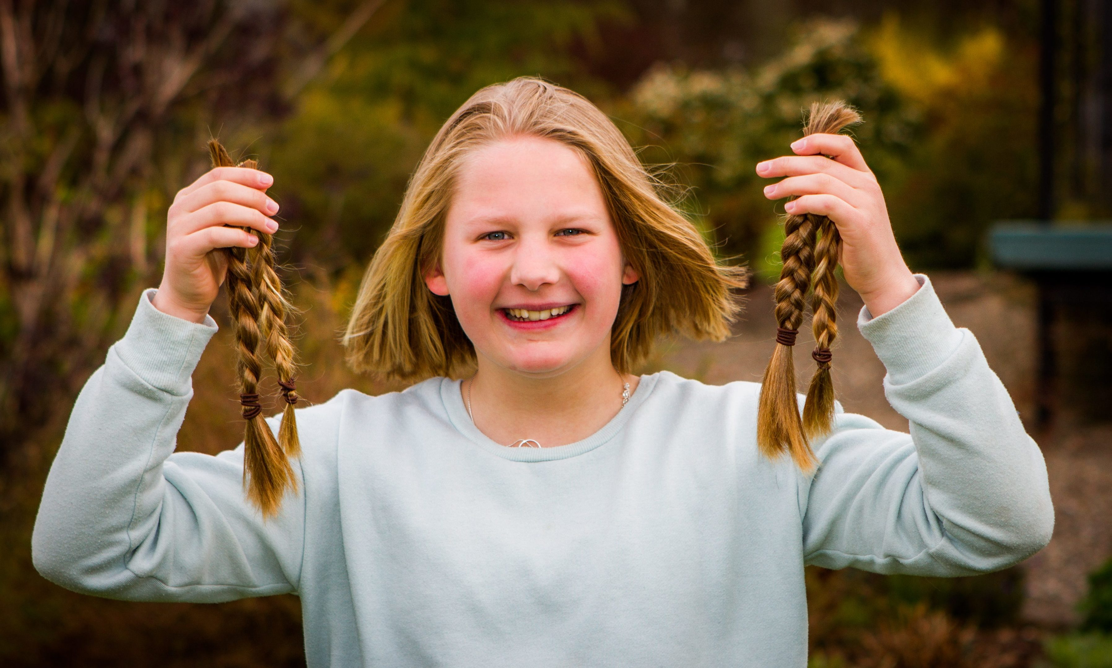 Grace Cameron, 12, has had her hair chopped for Little Princess charity.