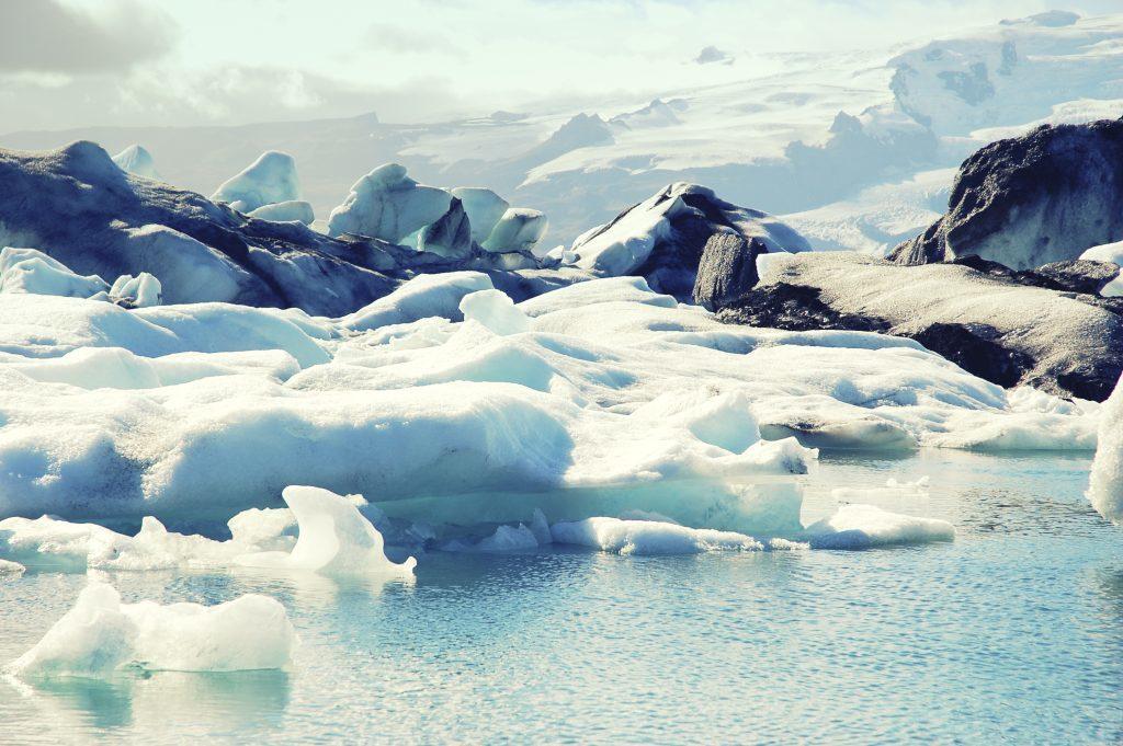 Ice floes from the Breidamerkurjokull glacier in southeast Iceland, Jokulsarlon Lagoon,Iceland.
