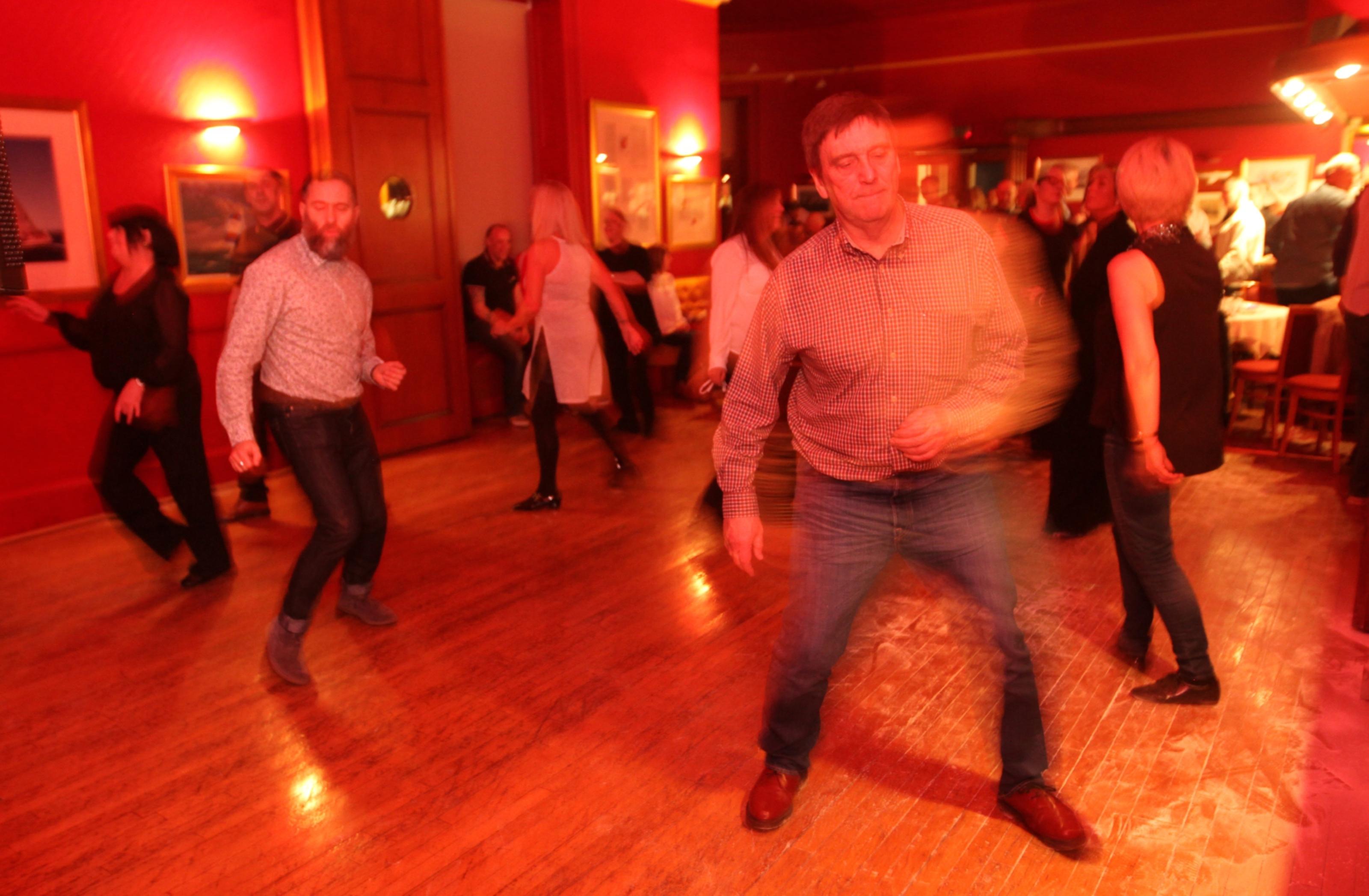 People enjoy dancing in true Northern Soul style.