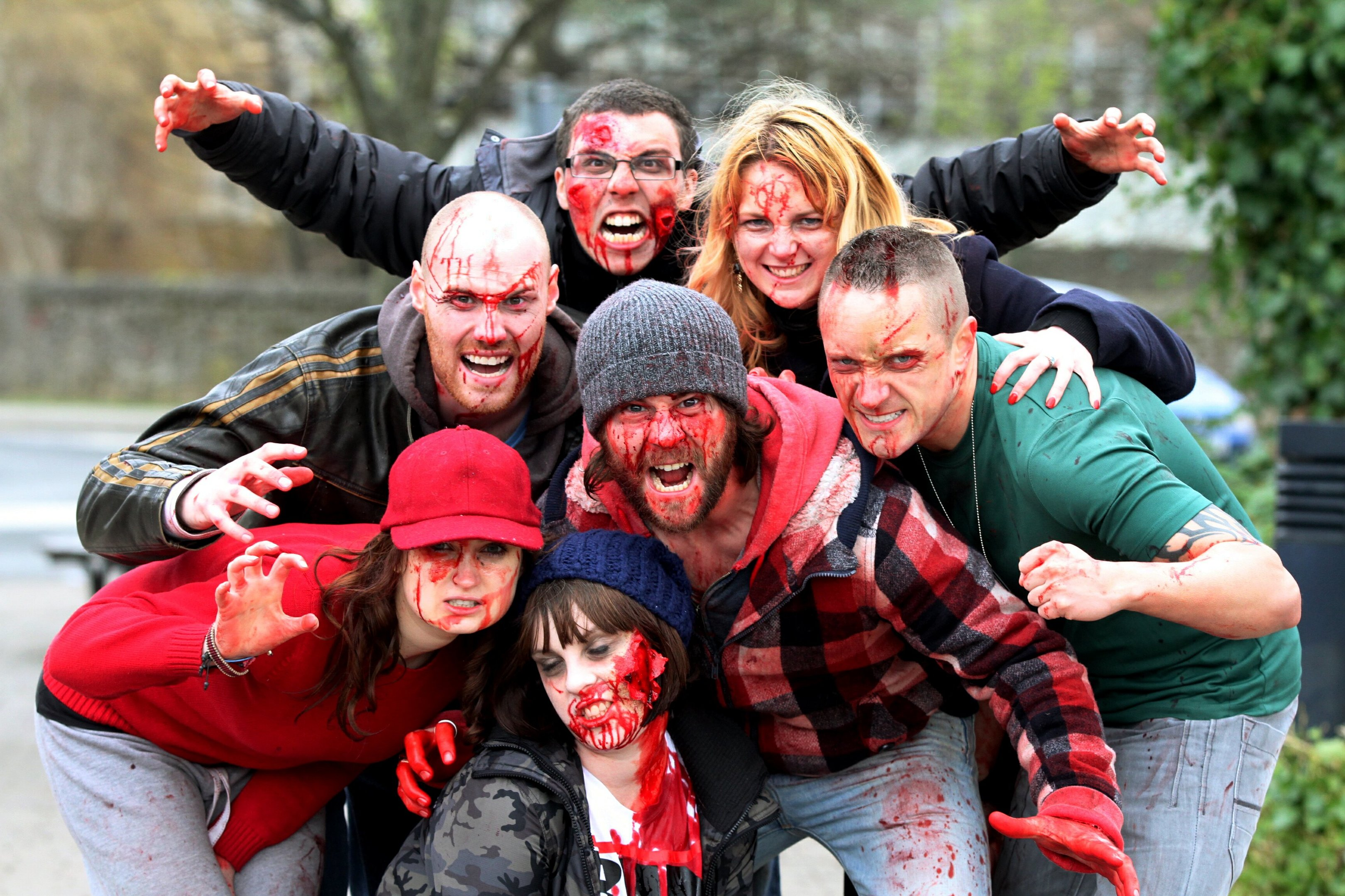 "The Zombie cast of the film "" Plan Z ""   which was filmed in and around Perth and Dunfermline."