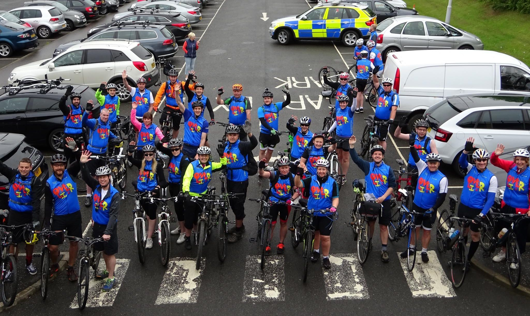 Cyclists who took up the LoveOliver challenge last year