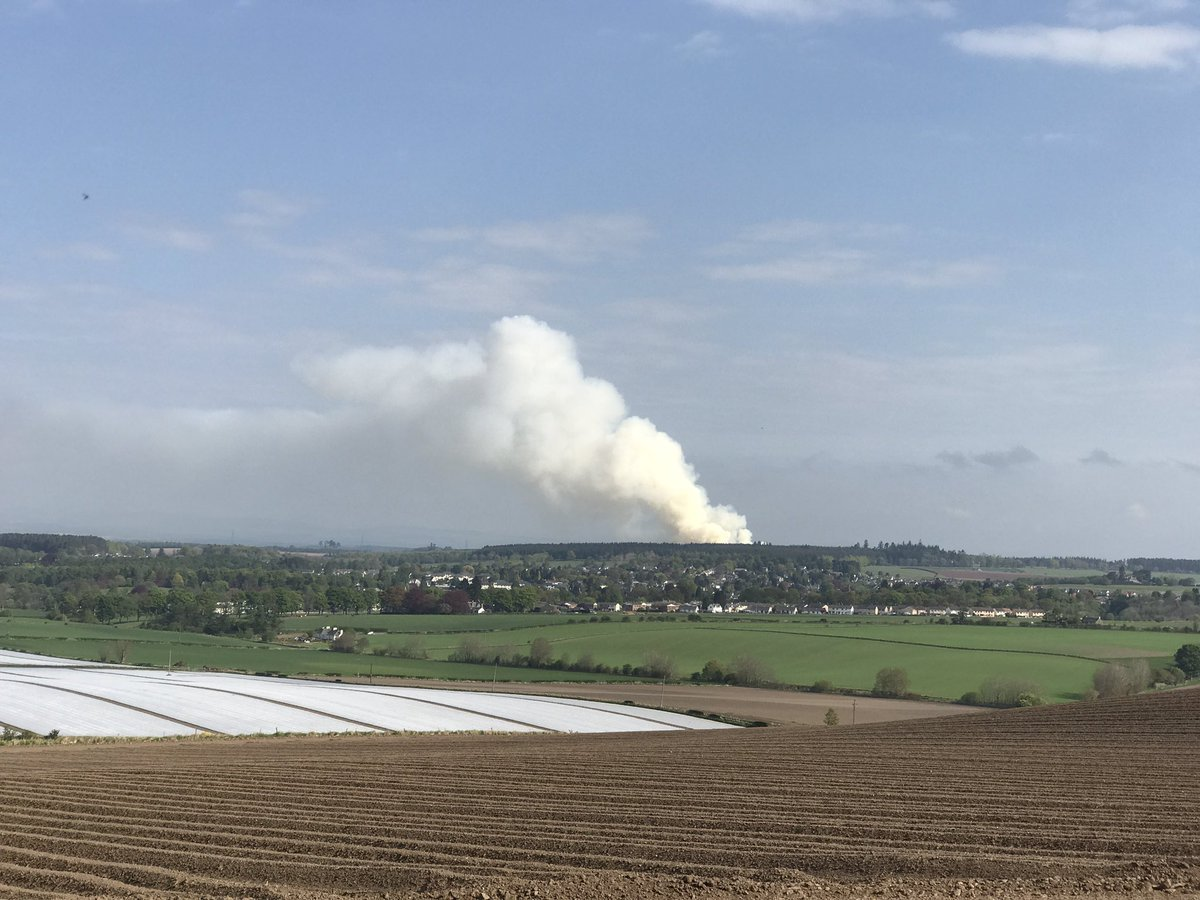 The smoke can be seen for miles around. Credit: @colinmcg71 on Twitter.