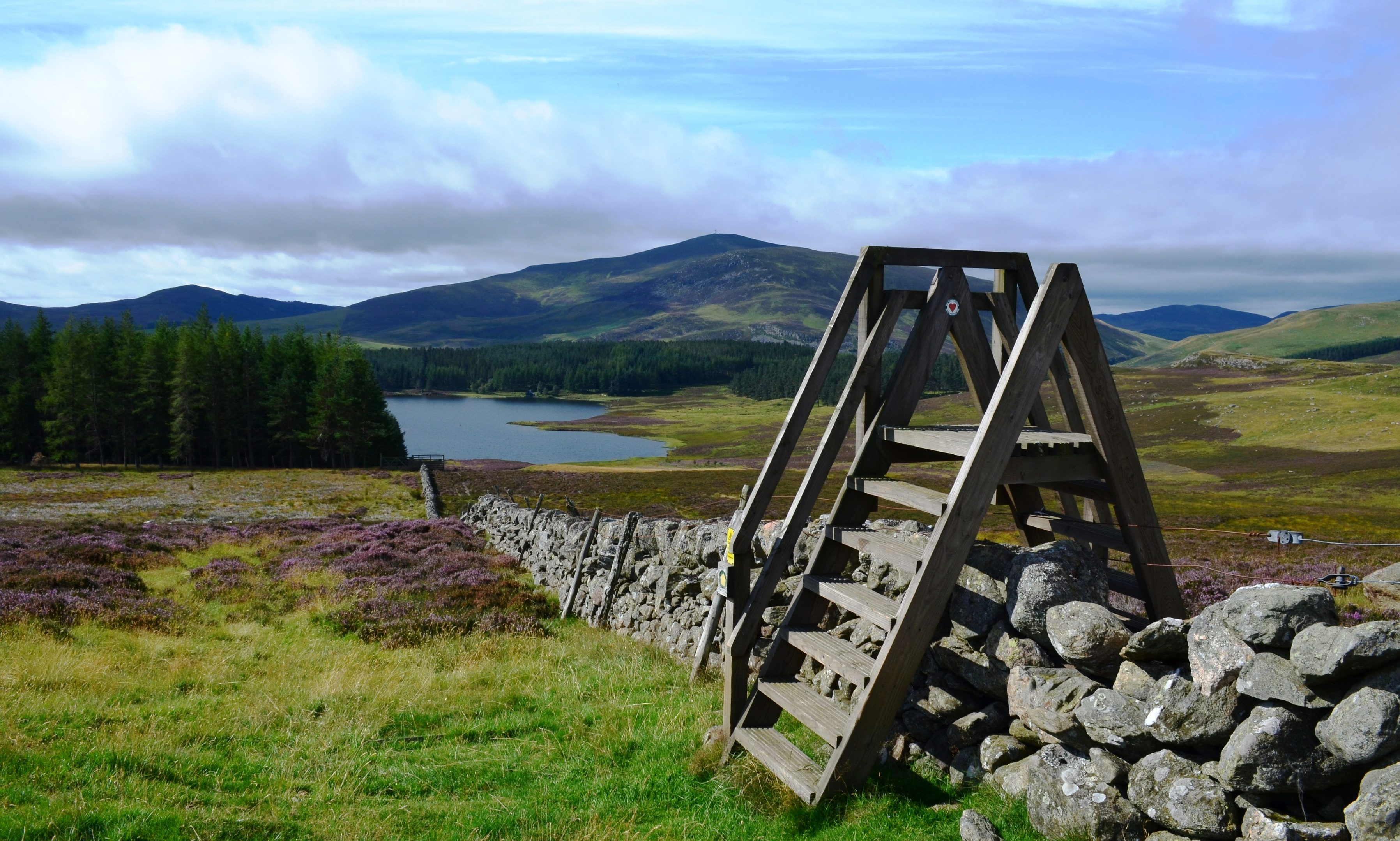 The Auchintaple Stile on the Cateran Trail.