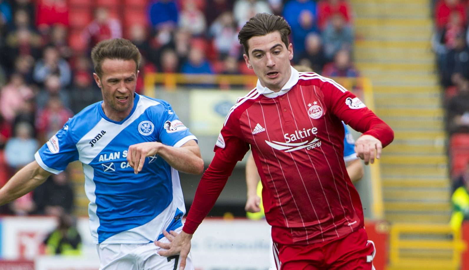 Chris Millar in action at Pittodrie.