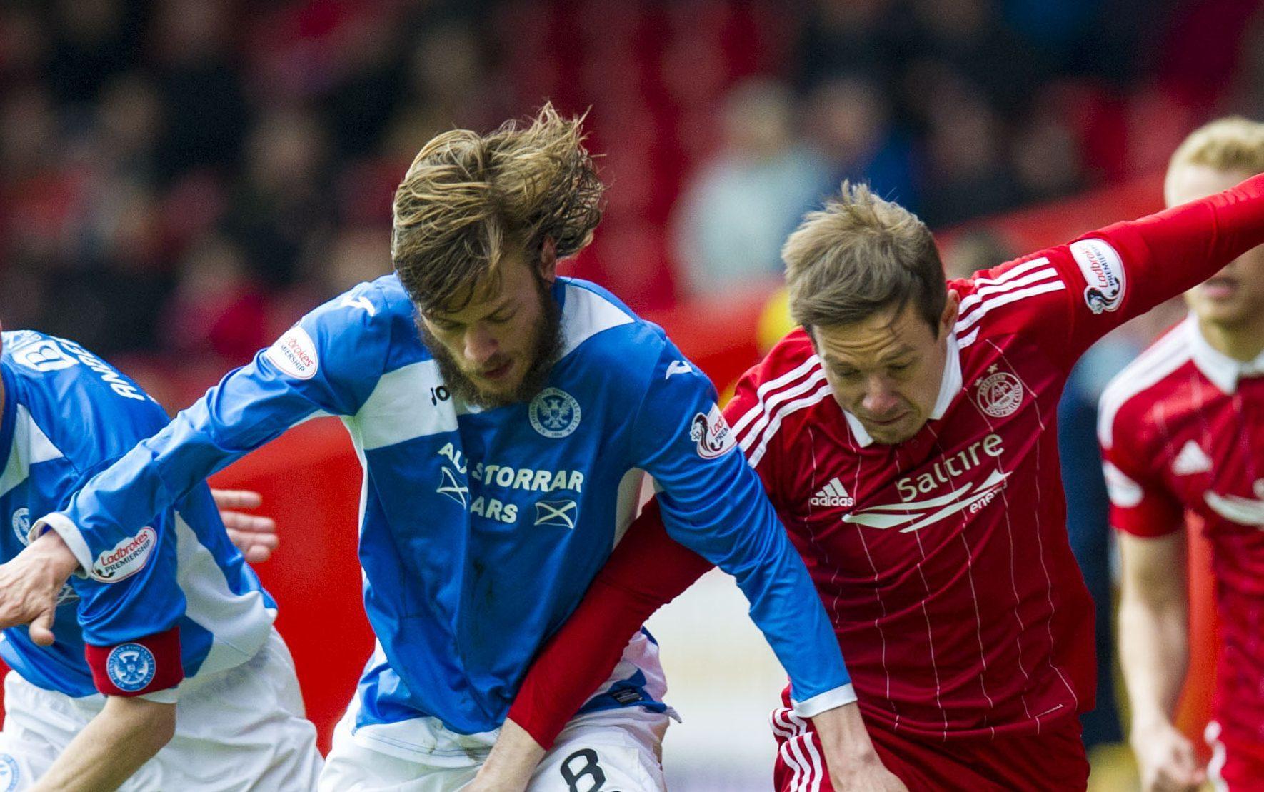 Murray Davidson in action against Aberdeen.