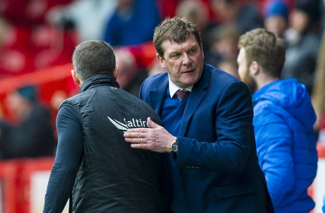 Tommy Wright at full-time on Saturday.