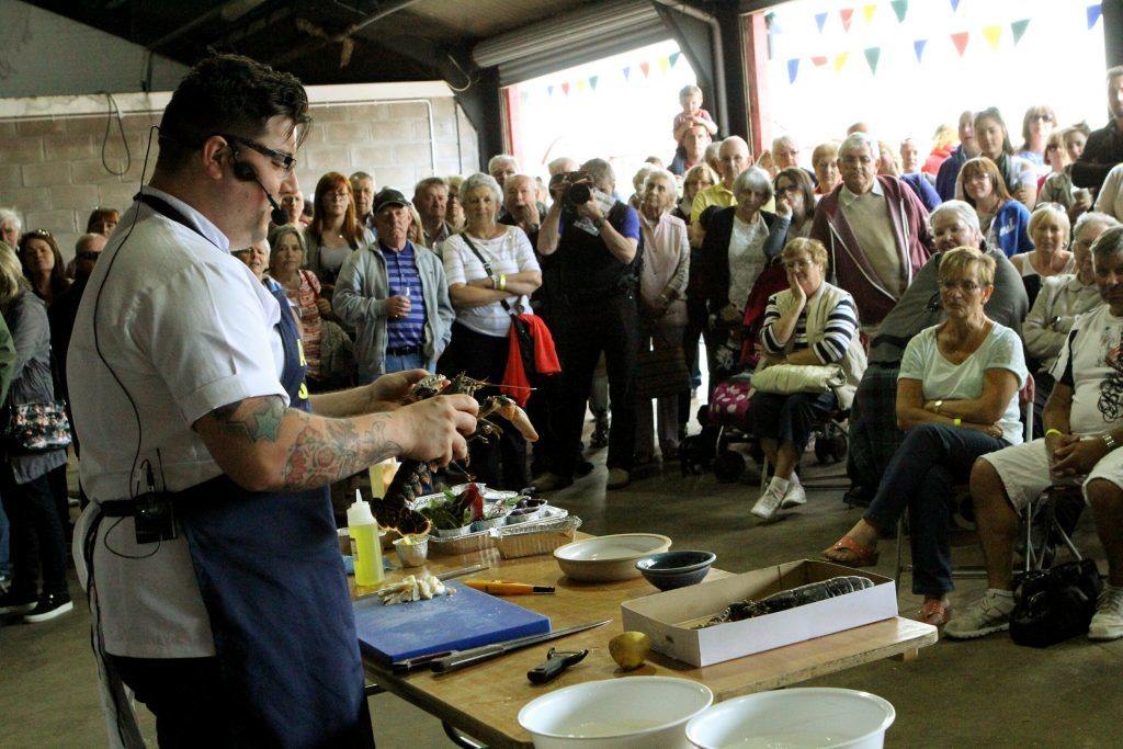 Masterchef The Professionals winner Jamie Scott during his cookery demonstration at the 2015 event