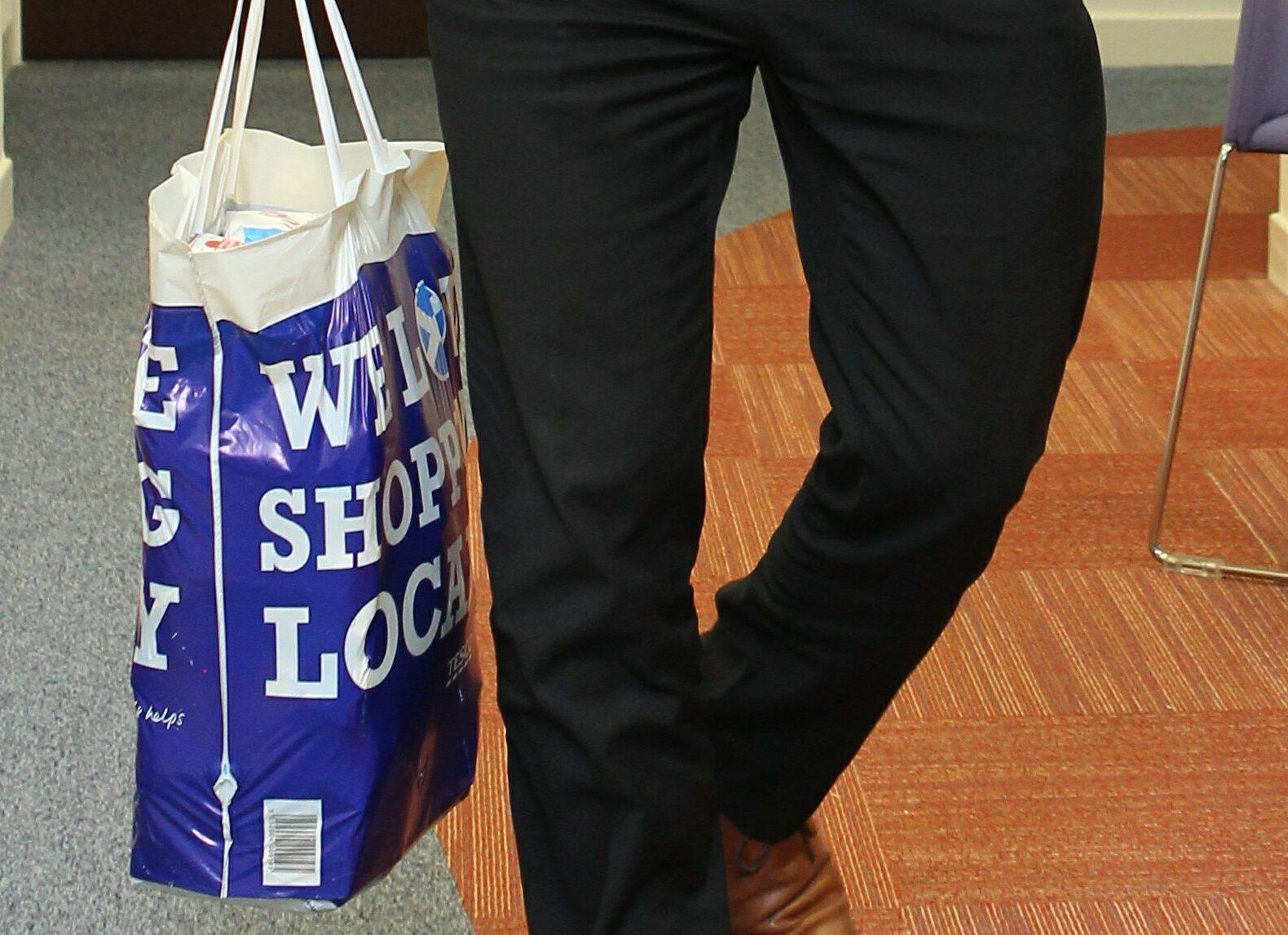 A Tesco bag for life.