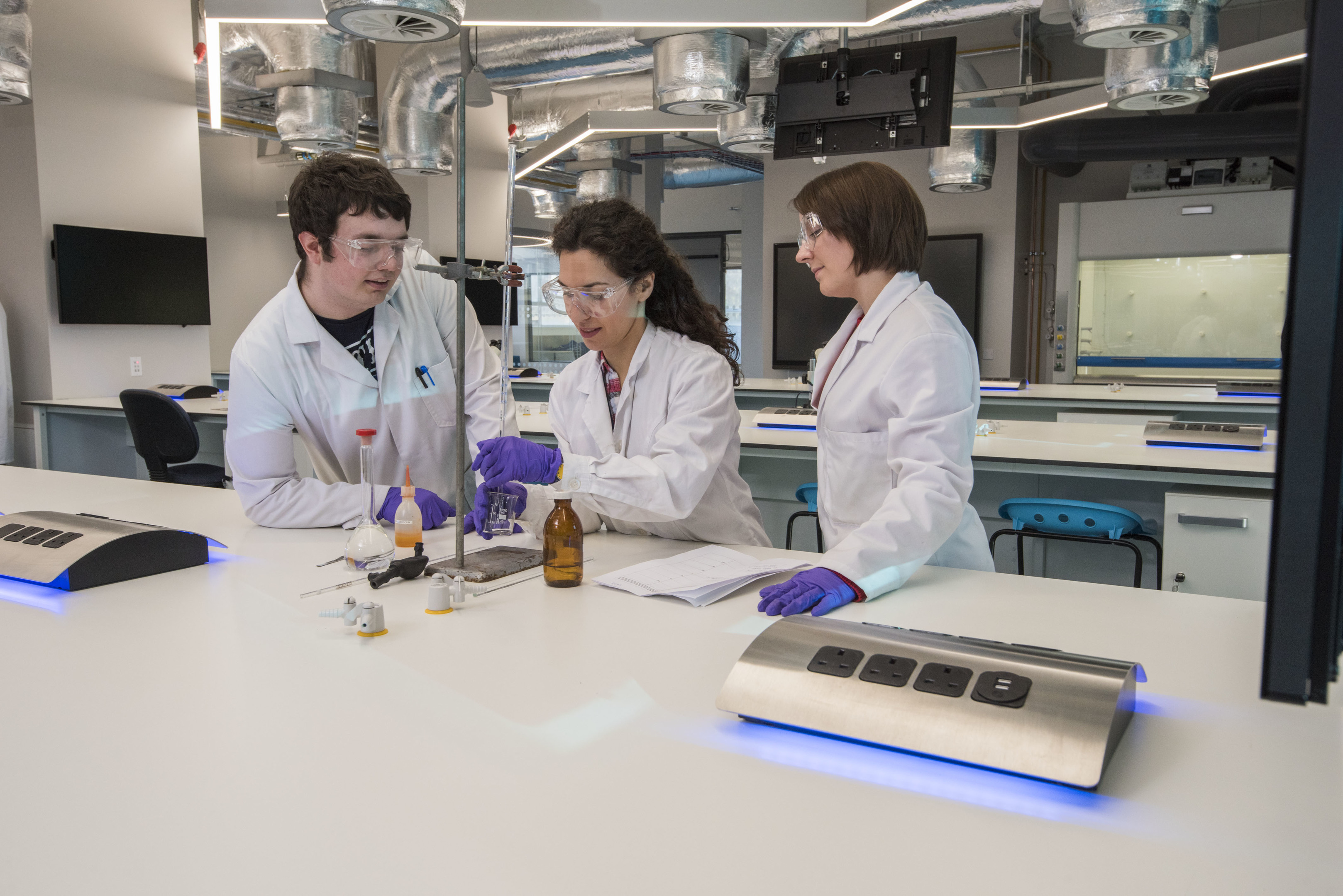 Abertay's new state-of-the-art lab space.