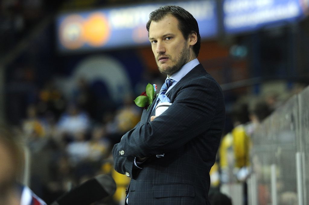 Dundee Stars head coach Marc LeFebvre at the play off finals weekend in Nottingham.