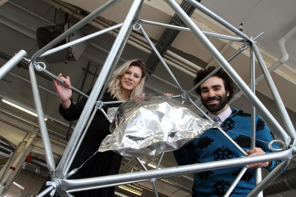 Rachel Mulder and Simon Anton from Detroit with their creation Ike Junior