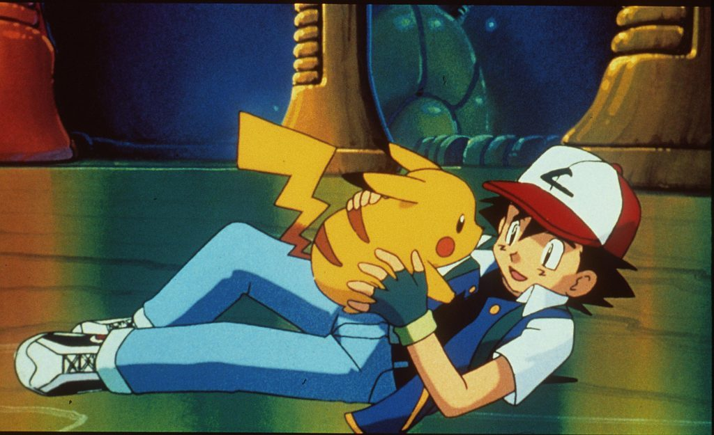 Pikachu And Ash in Pokemon: The First Movie, 1999.