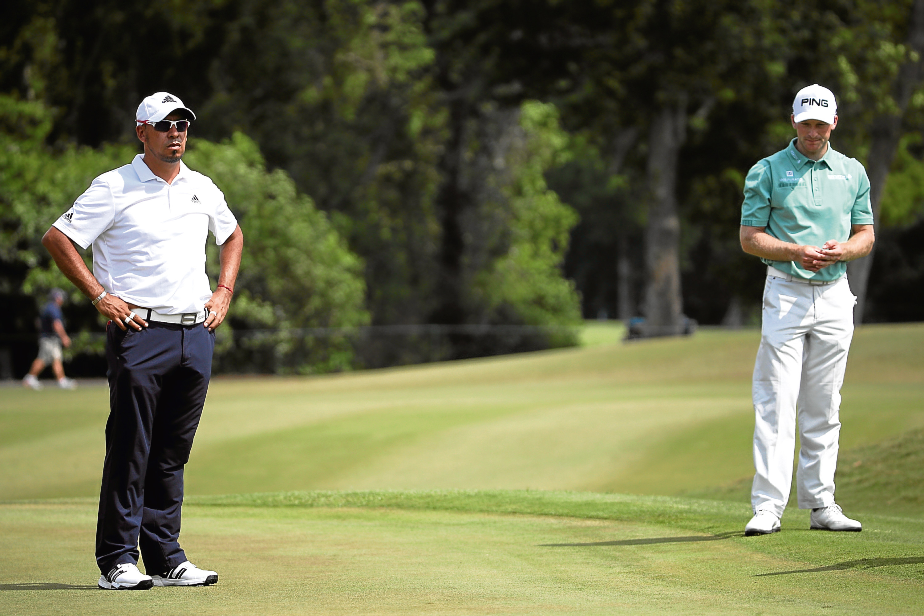 Miguel Angel Carballo and Brian Campbell were the first players to be penalised for slow play on the PGA Tour for 22 years.