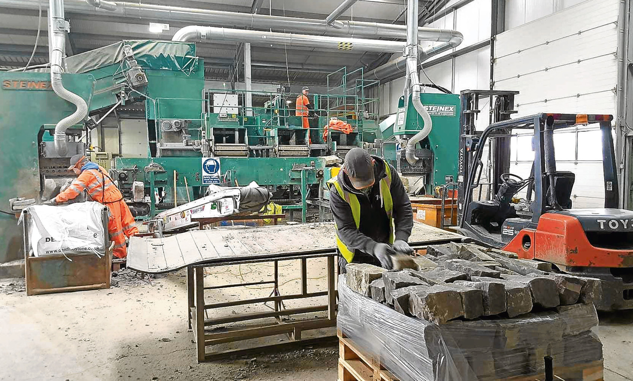 Denfind stone's processing facility at Monikie