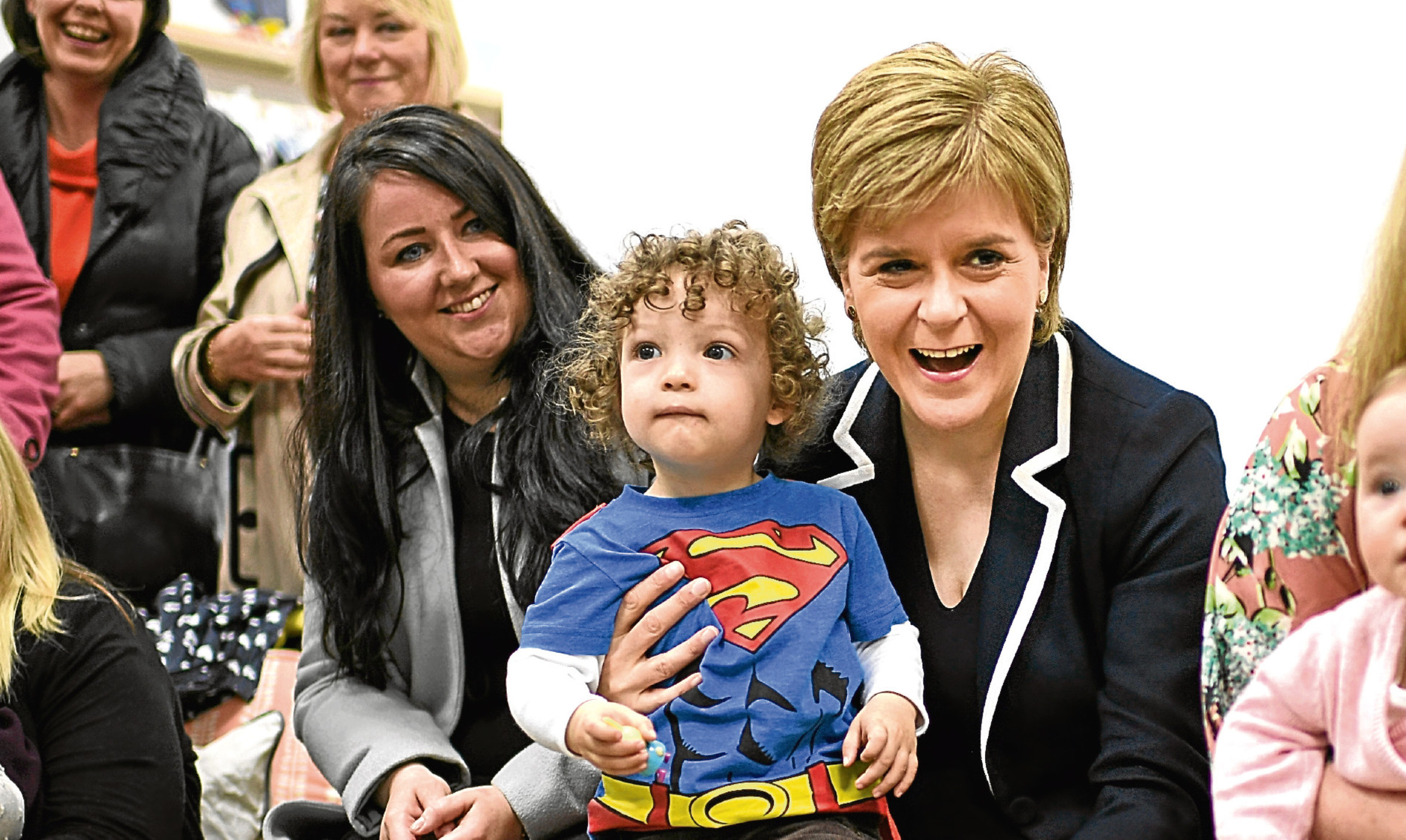 Nicola Sturgeon campaigning in Hamilton with candidate and sitting MP Angela Crawley. Is this visit to a safe seat a sign of worries in the SNP camp, Jenny wonders.
