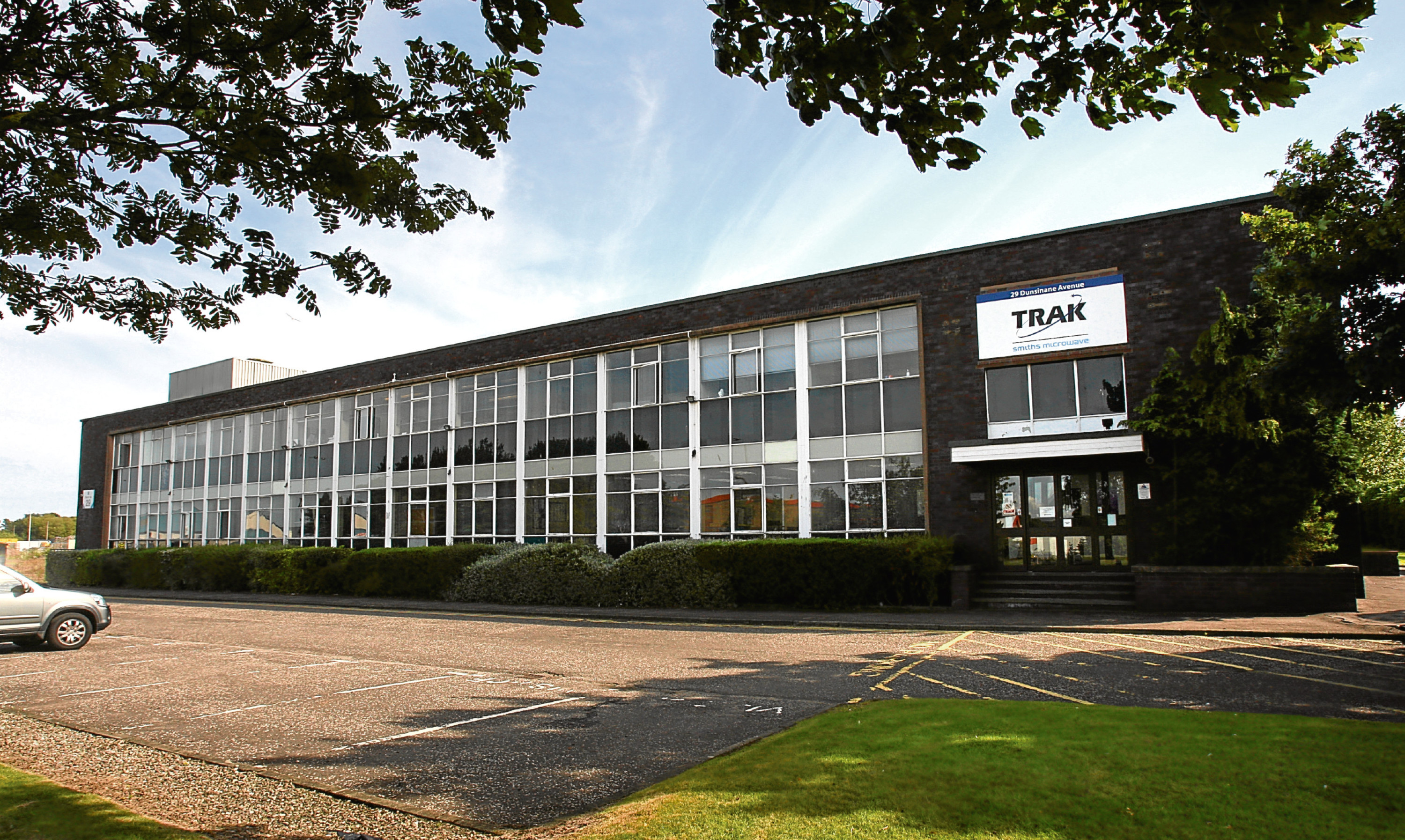 Trak Microwave's premises at Dunsinane Industrial Estate in Dundee