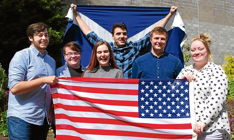 From left: Scott Guthrie, Kieran McManus, Tasha Smith, Matthew Milroy, Darren Forbes-Kinklen and Jessica Dunne.