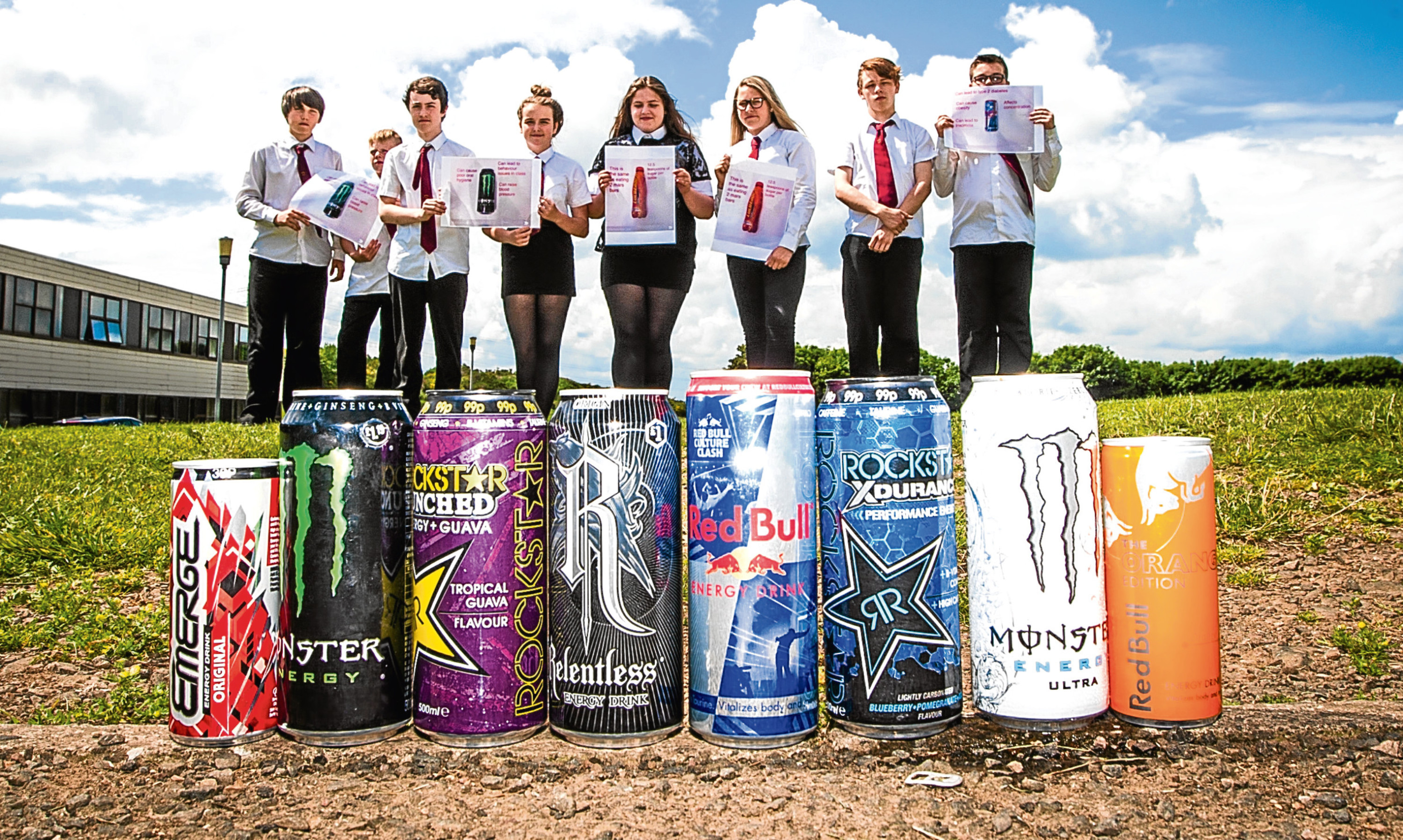 Braeview Academy along with Olympian Vikki Bunce look into the effects of the high caffeine, high sugar energy drinks as part of The Courier's Can It campaign, which has taken on even more significance after the death of a teenager in the USA from consuming too much caffeine.