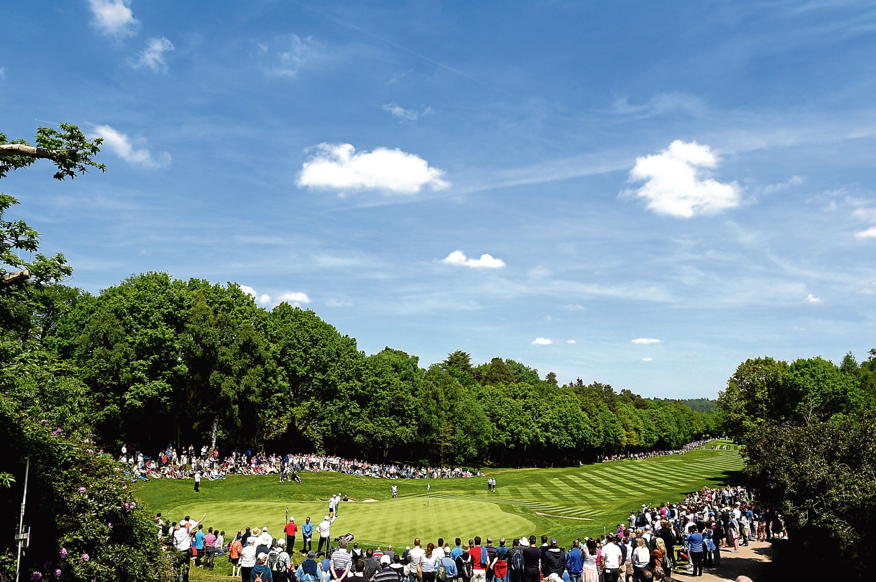 The third hole at the West Course during the BMW PGA Championship.