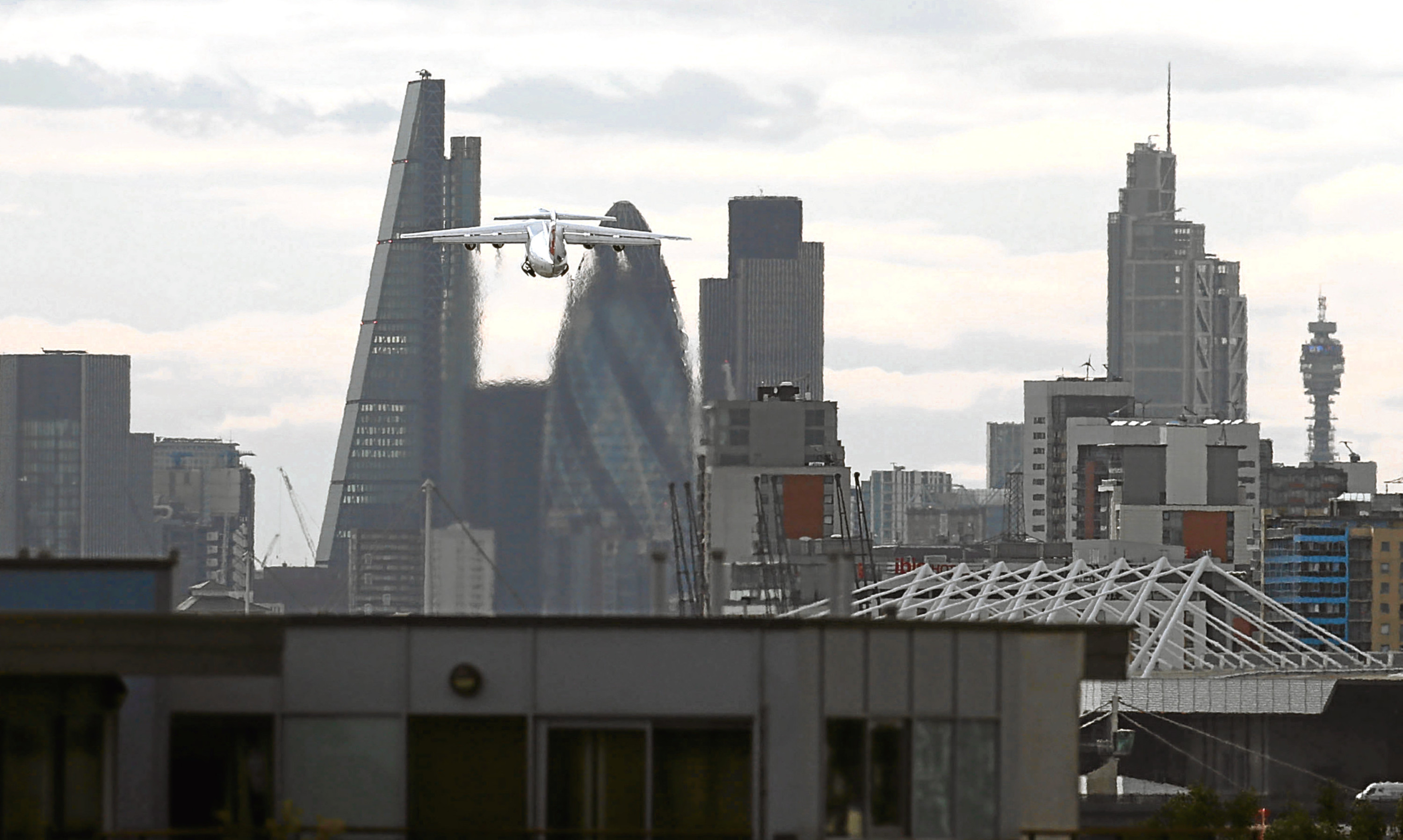 The skyline of the City of London, home to some of the world's biggest banks.