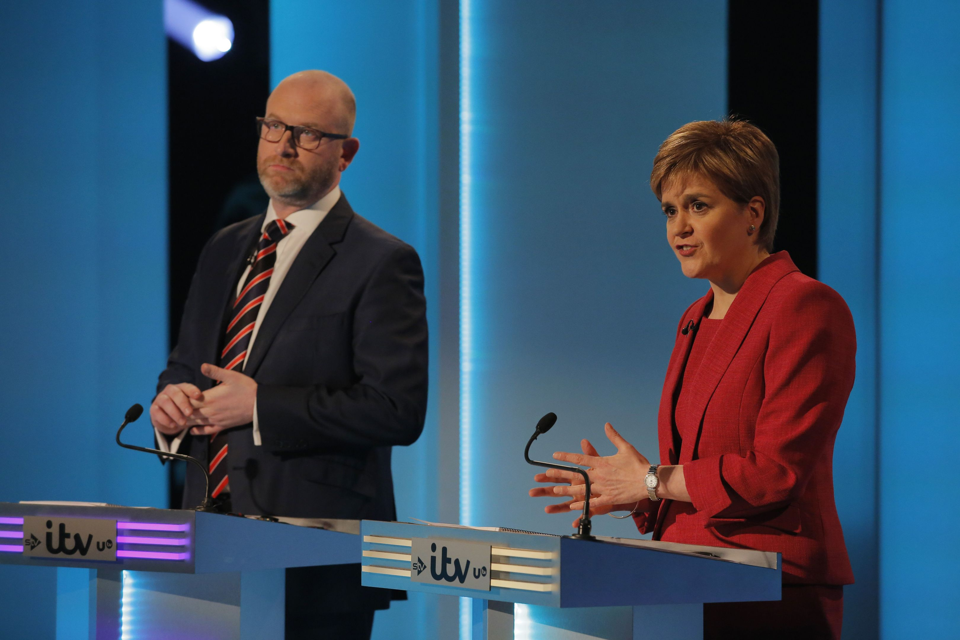 Nicola Sturgeon debating alongside Ukip leader Paul Nuttall.