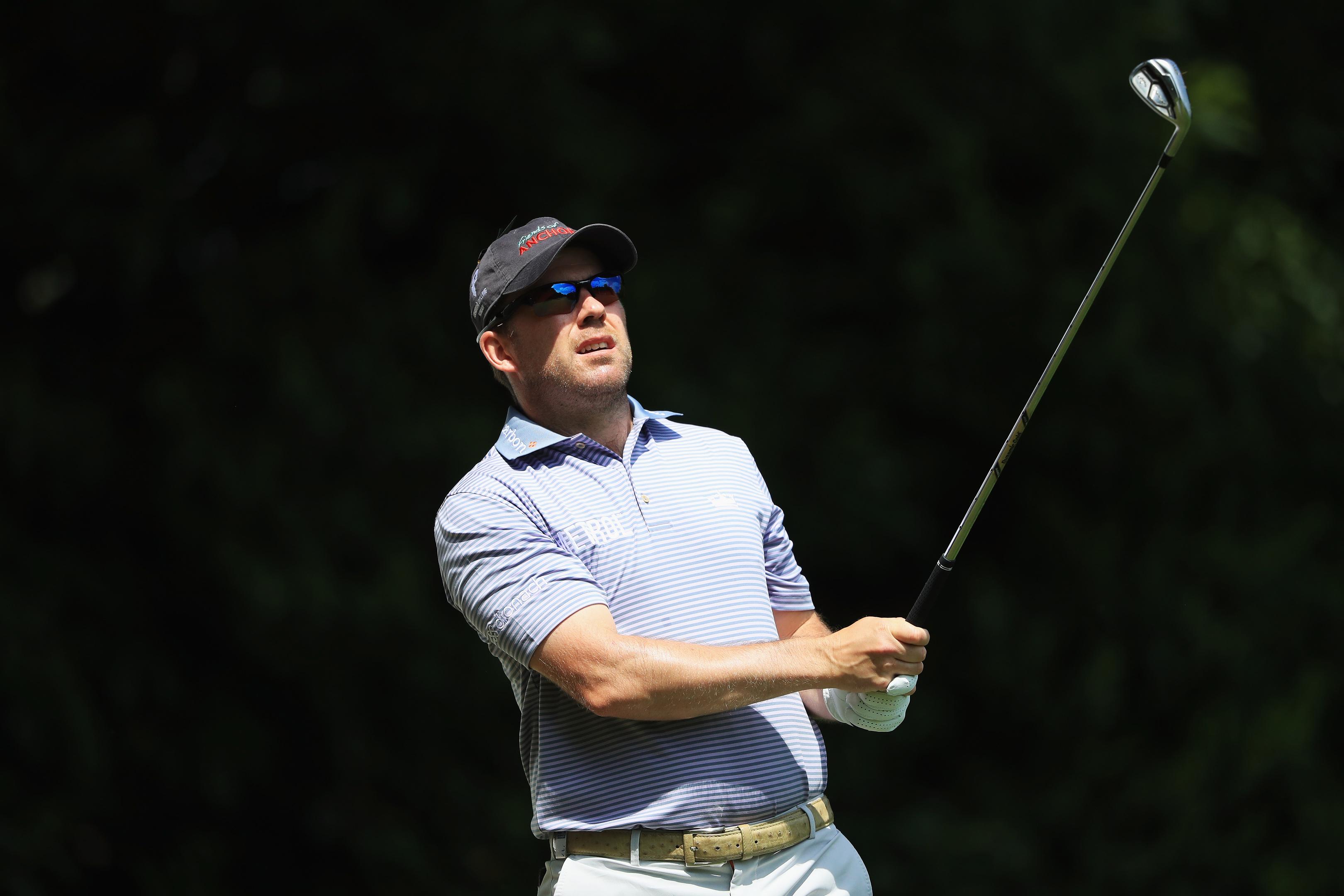 Richie Ramsay enjoying the sunshine at the BMW PGA Championship at Wentworth.