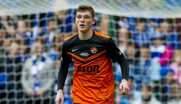 Andy Robertson during his United days.