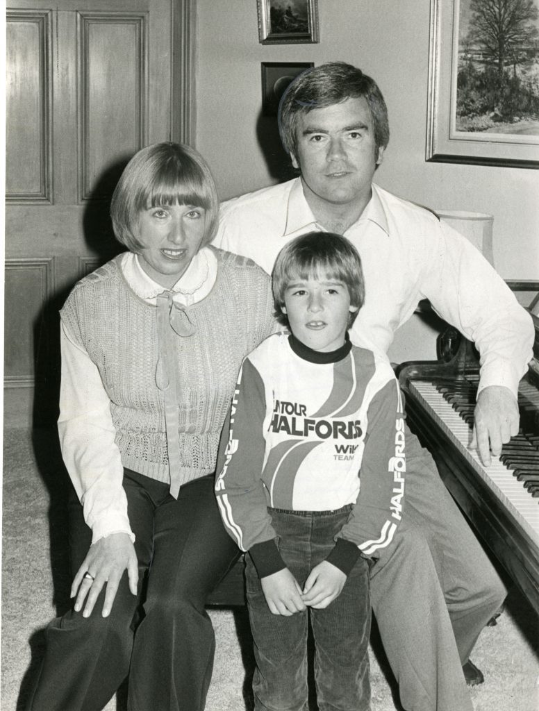Ian Wallace pictured with his wife Trudiyand son Danny in 1984. A4838 1984-06-05 Ian Wallace and Family (C)DCT