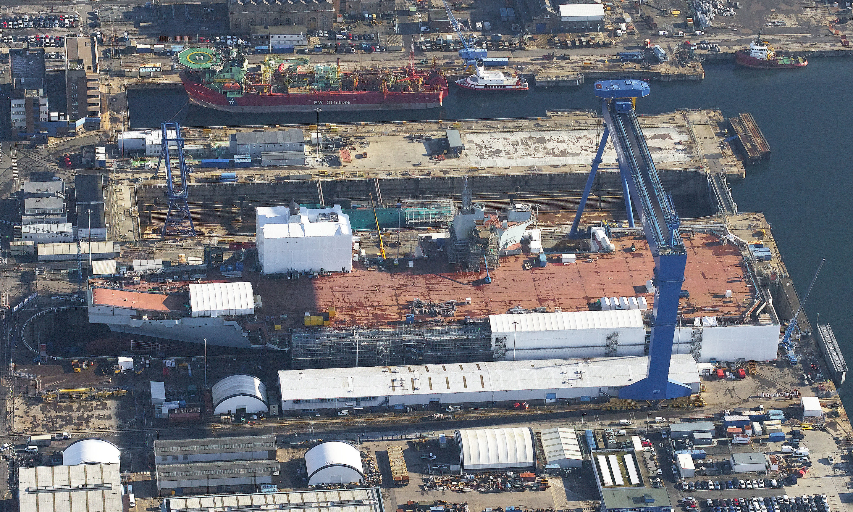 The building of the Prince of Wales, the Royal Navy's second new aircraft carrier, is coming to an end.