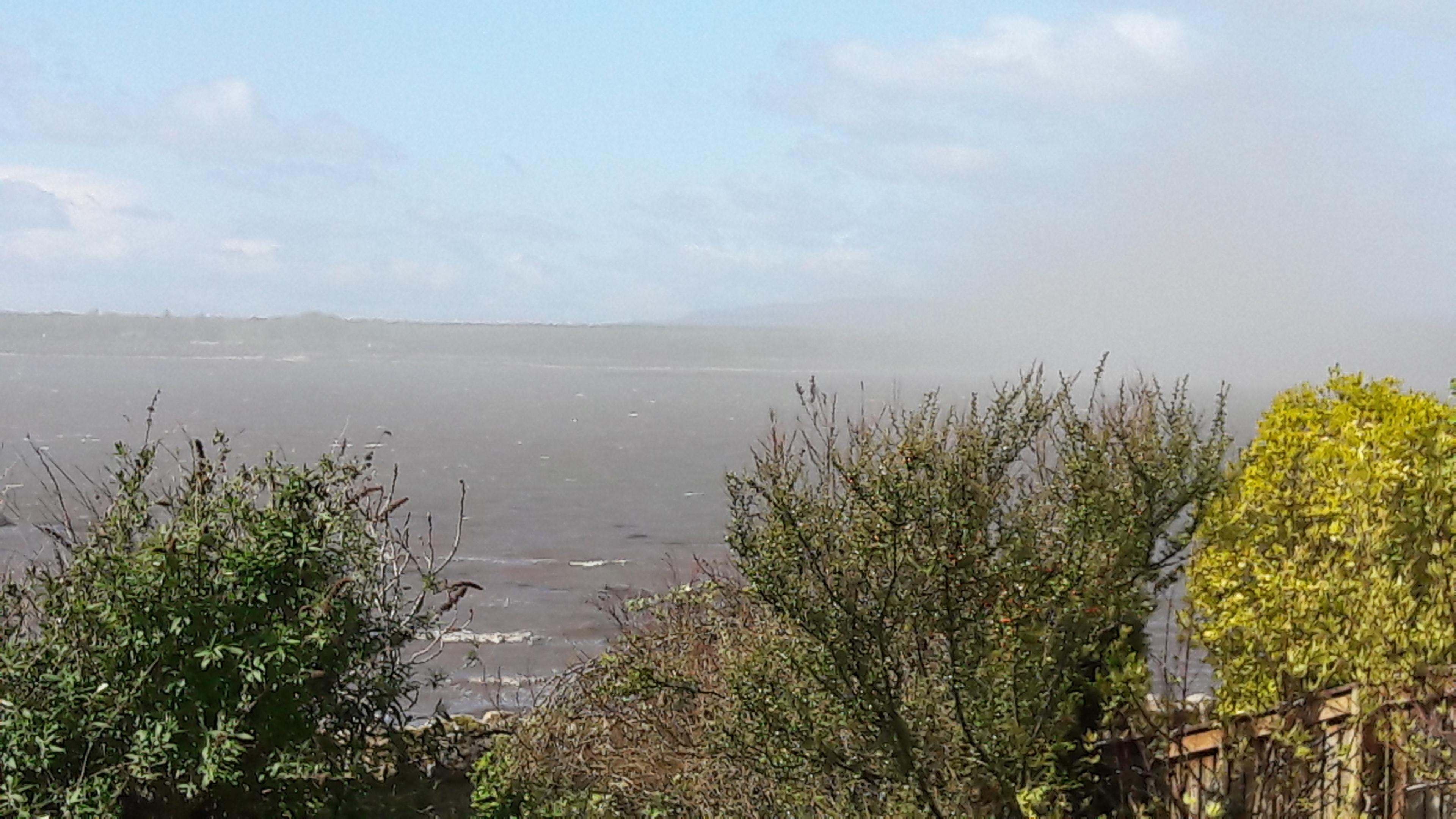 The ash cloud over the Fife coast.