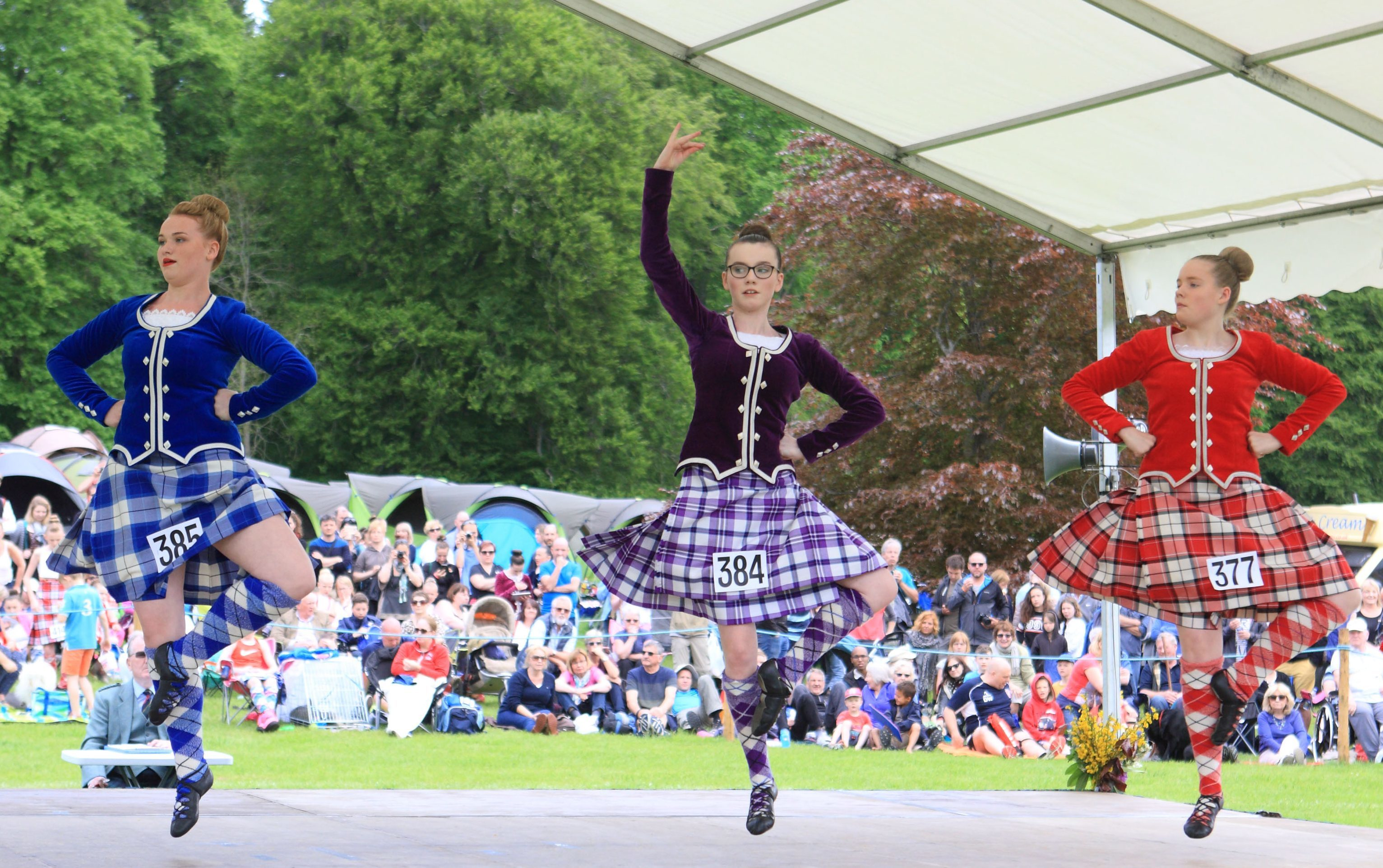 Dancers at the Atholl Gathering.