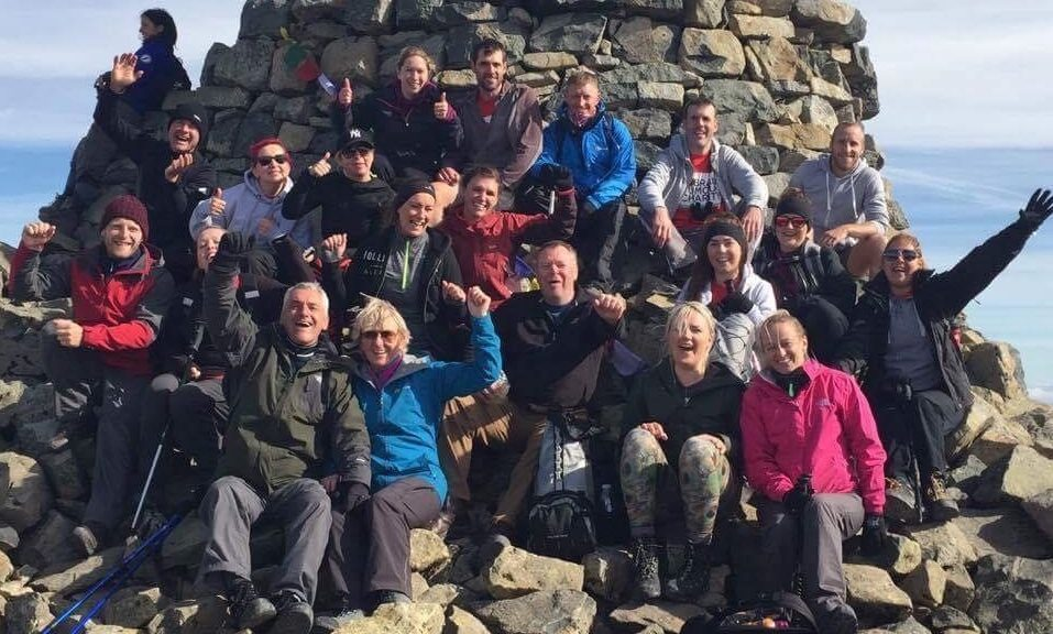 Thirty friends and family members climbed Ben Nevis