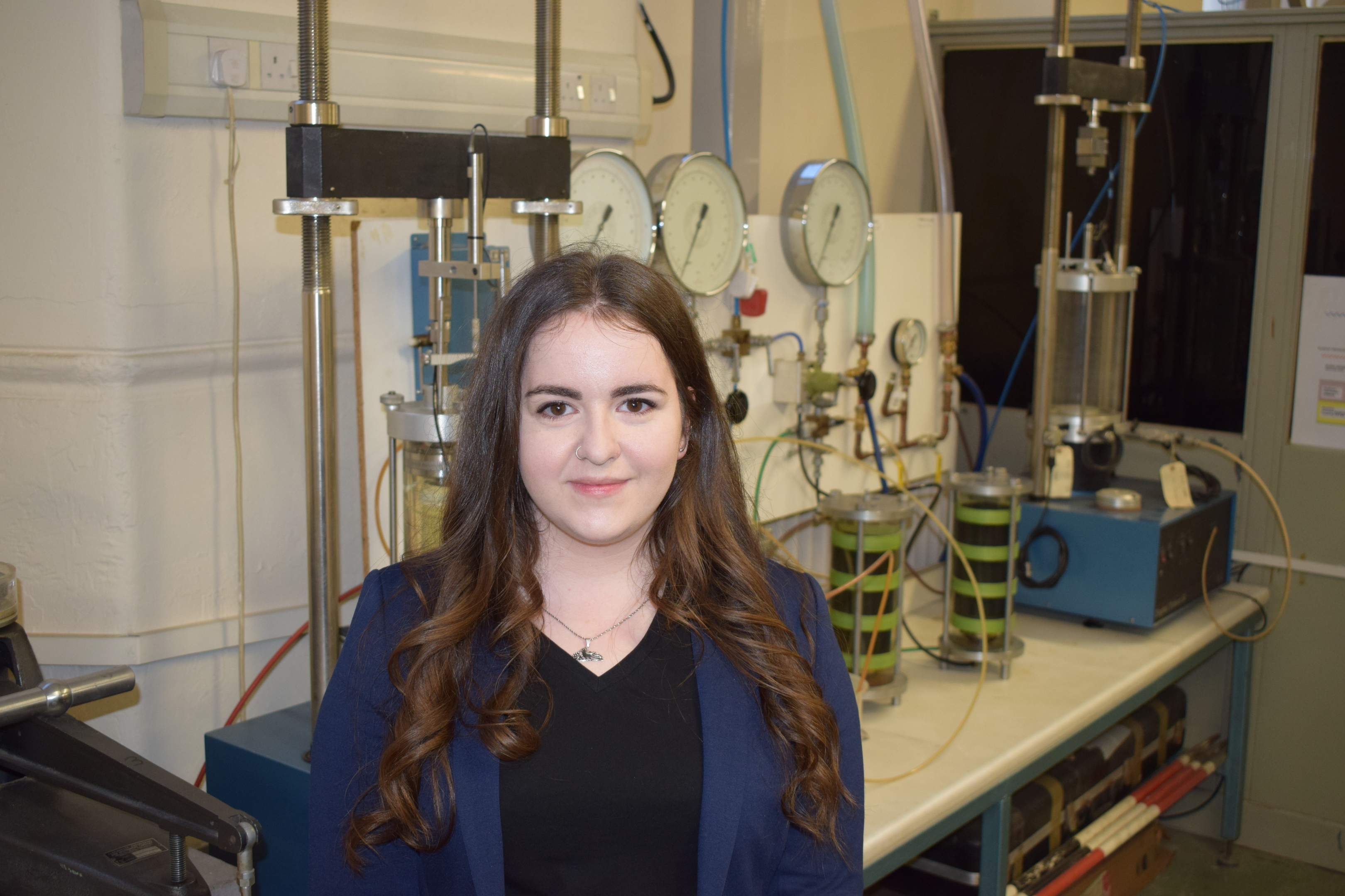 Civil Engineering student Aleksandra Tomczyk, who helped organise Abertay's Unsung Heroes of STEM event.