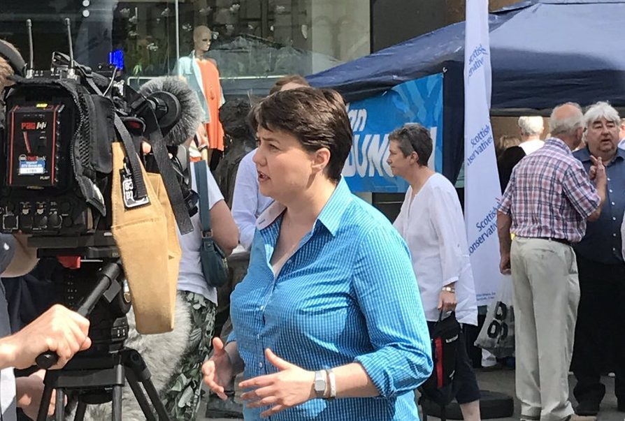 Ruth Davidson in Perth High Street.