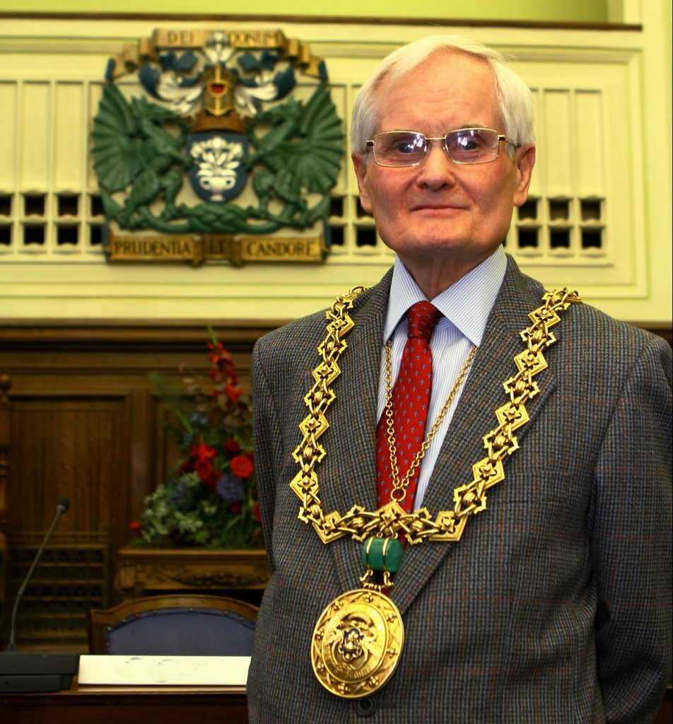 New lord provost Ian Borthwick.