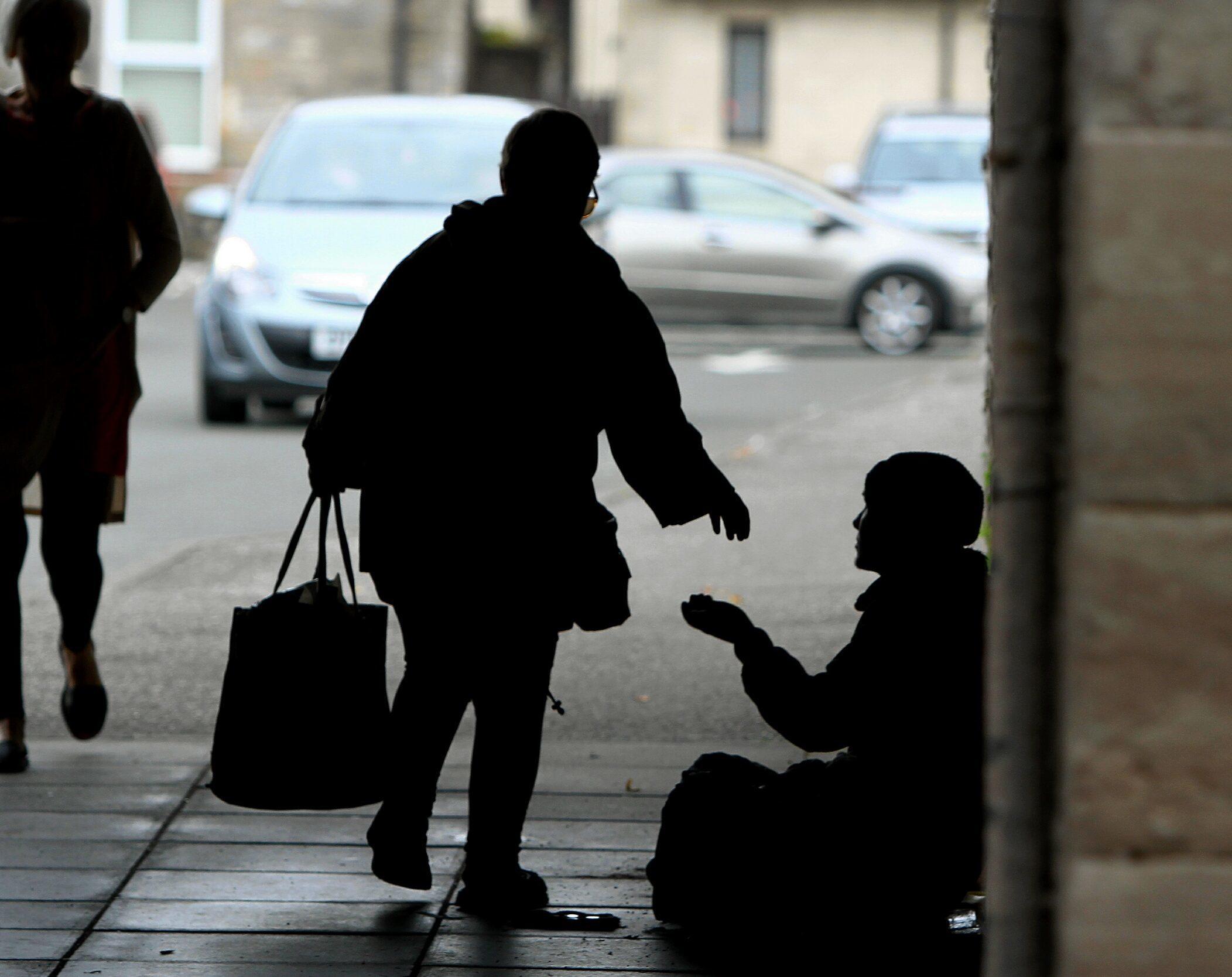 A beggar in Perth.