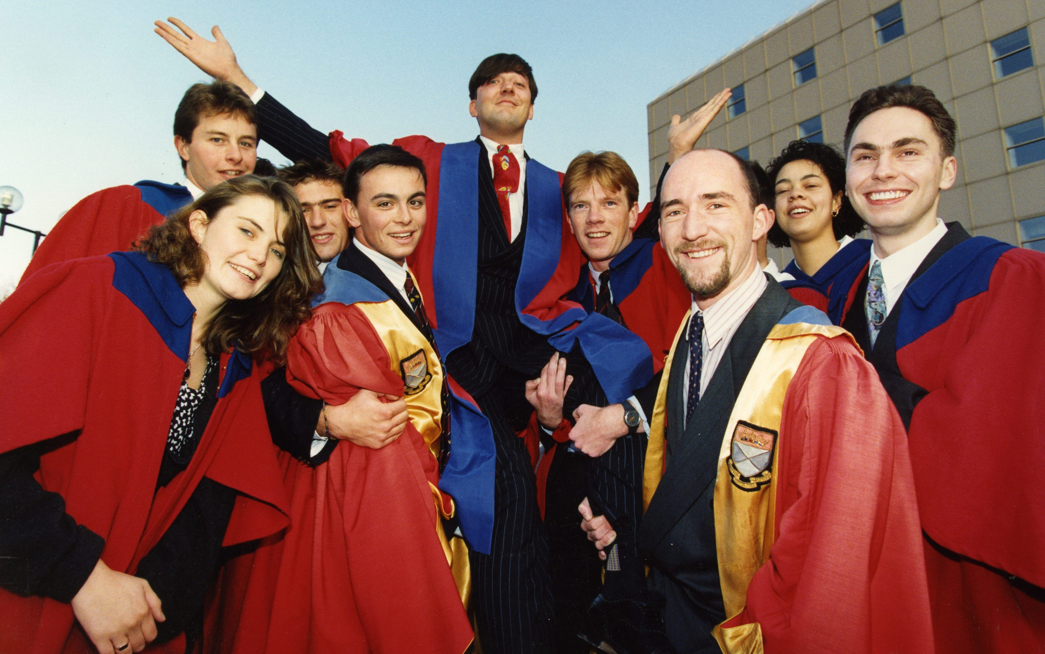 Stephen Fry becoming rector of Dundee University in 1992