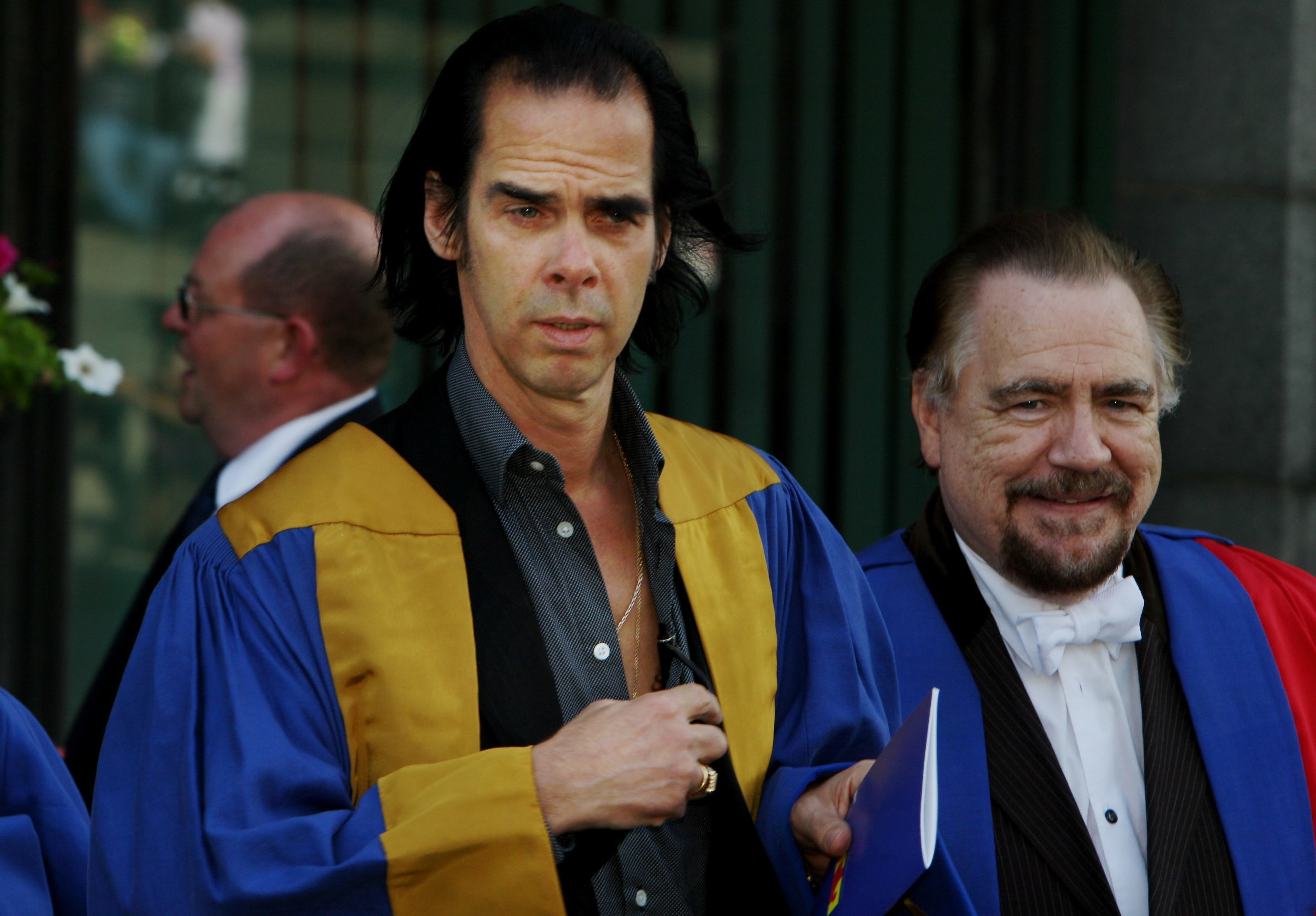 Nick Cave and Brian Cox in Dundee in 2010.