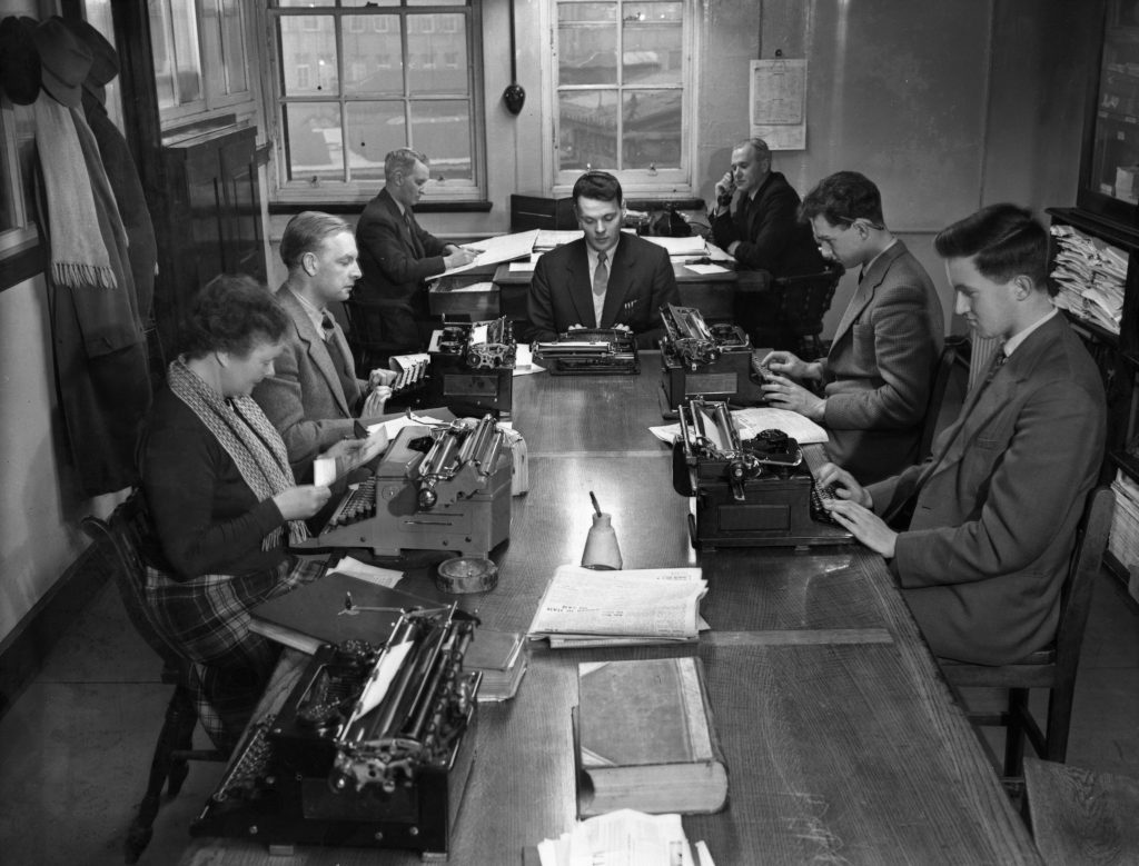 Journalists at work in the 1950s - times have changed!