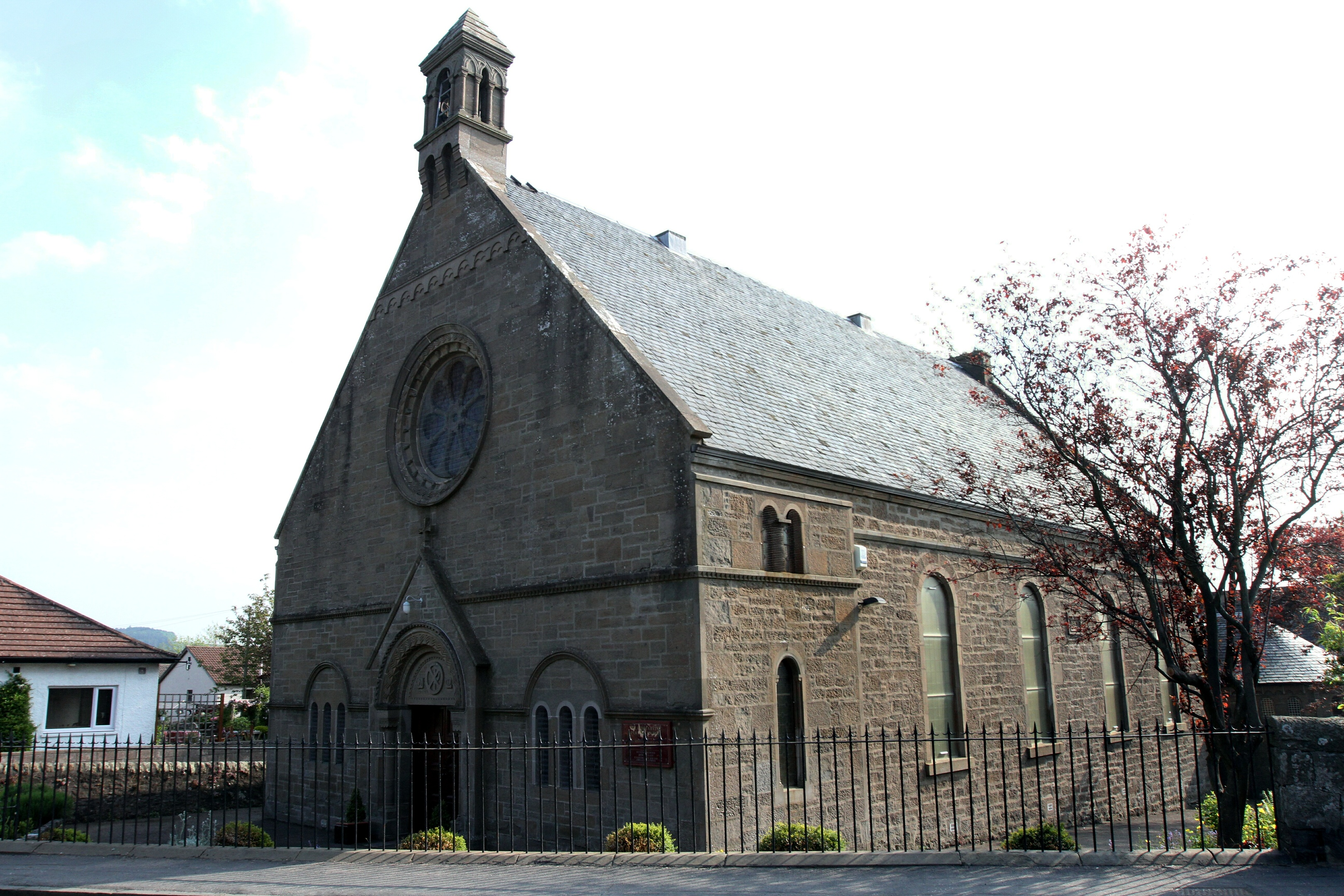 Members of the public reported a suspicious package at the church door.