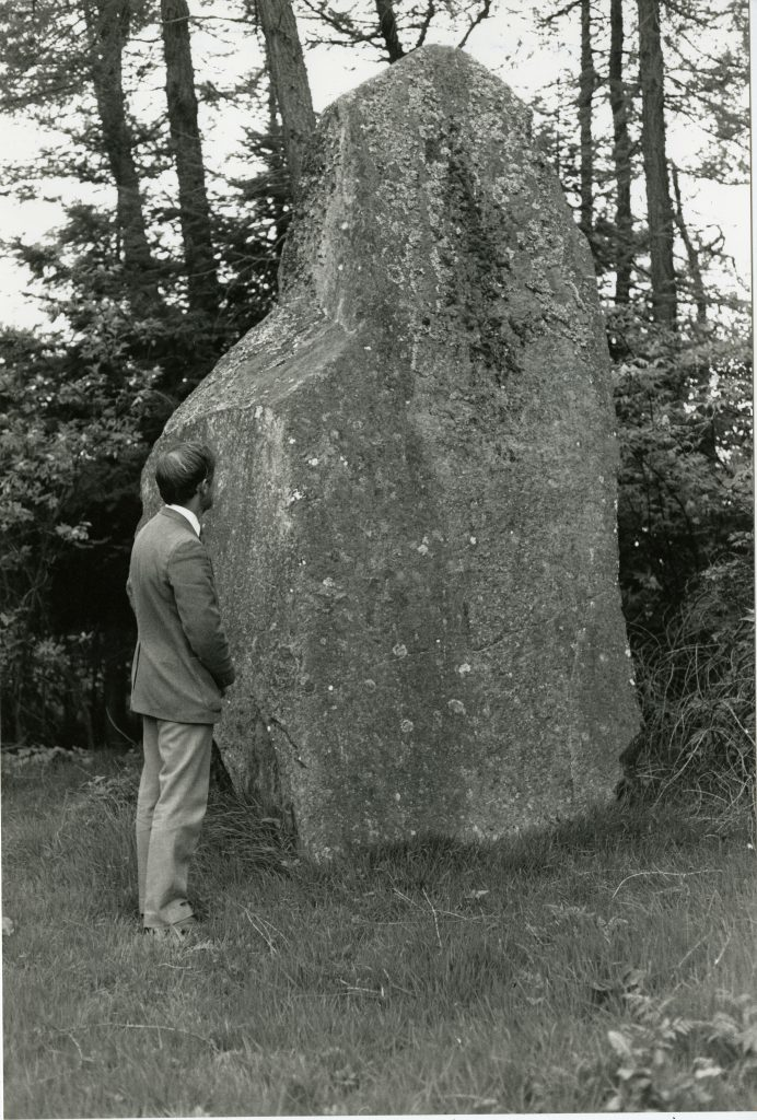 Giant monolith in the grounds of Belmont Castle.