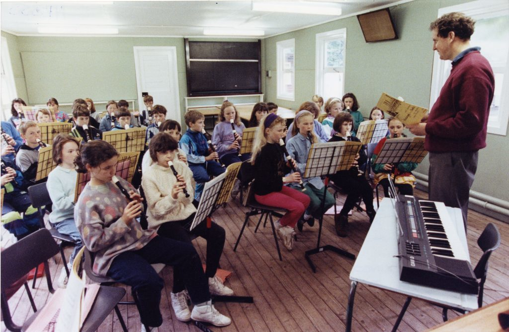 Perth and Kinross Rural Schools Choral and Recorder course at Belmont Camp, Meigle.