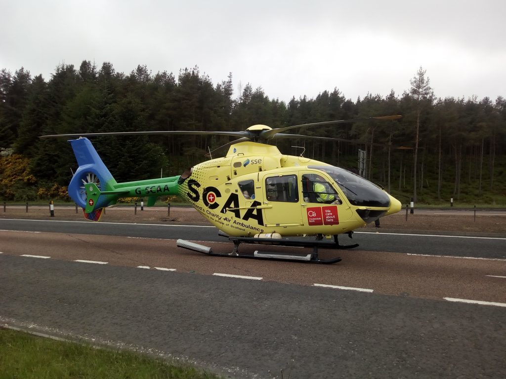 The SCAA chopper at Tealing.