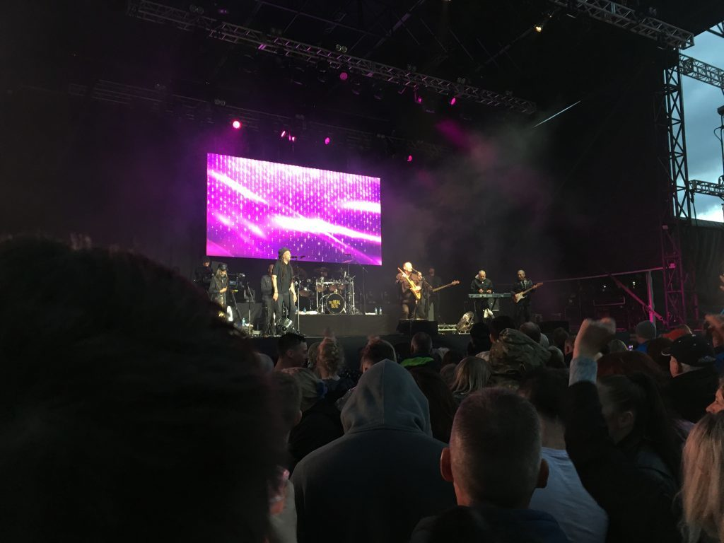 UB40 on stage.