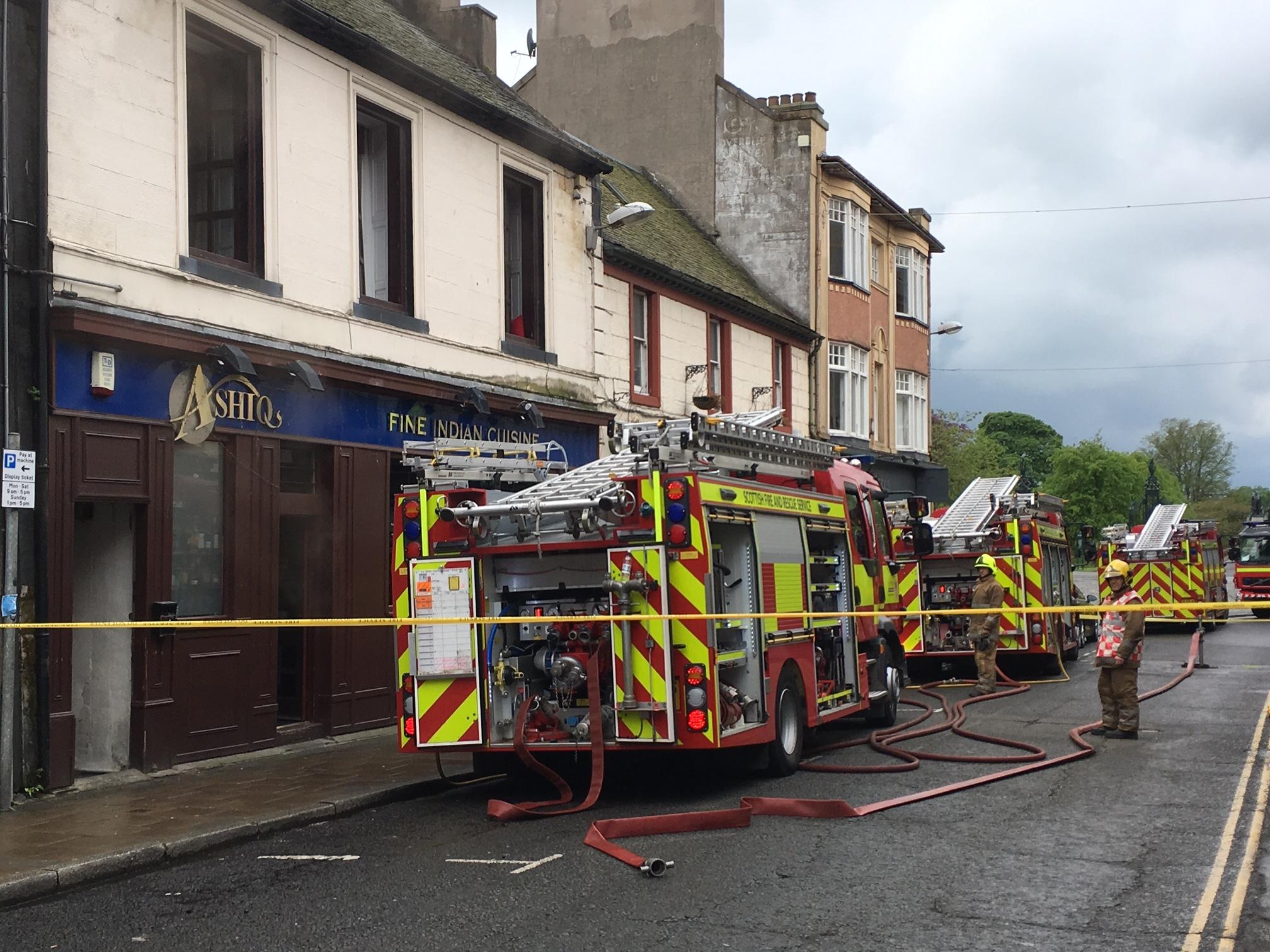 The scene at Ashiq's, Bridge Street, Dunfermline.