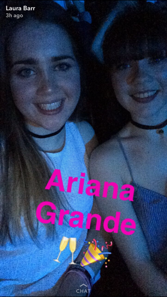 Laura and Hailey at the concert